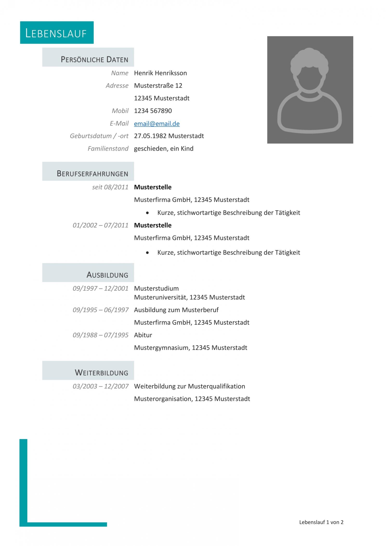 3 Bewerbungsschreiben Nach Der Schule Muster In 2020 Resume Words Resume Examples Types Of Resumes