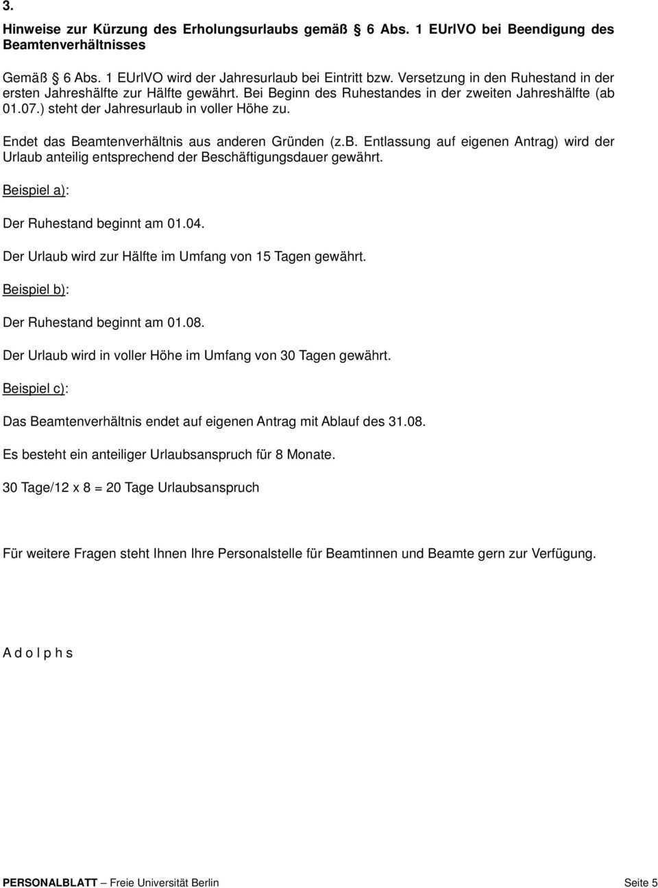 Informationen Fur Beamtinnen Und Beamte Zum Erholungsurlaub Pdf Free Download