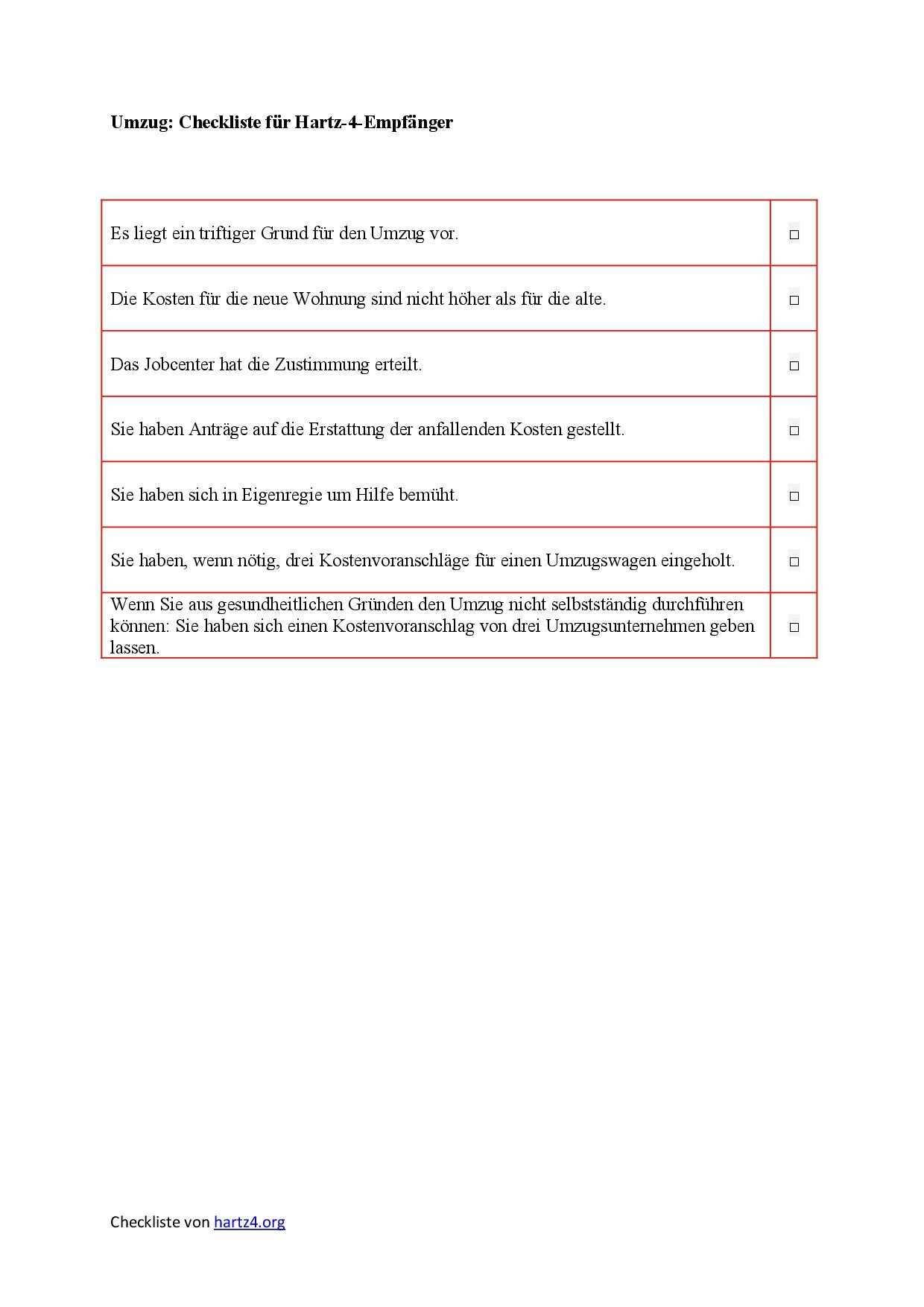 Hartz 4 Antrag Muster Fur Alle Belange Hartz Iv Alg 2 Umzug Checkliste Lebenslauf Download Lebenslauf Muster