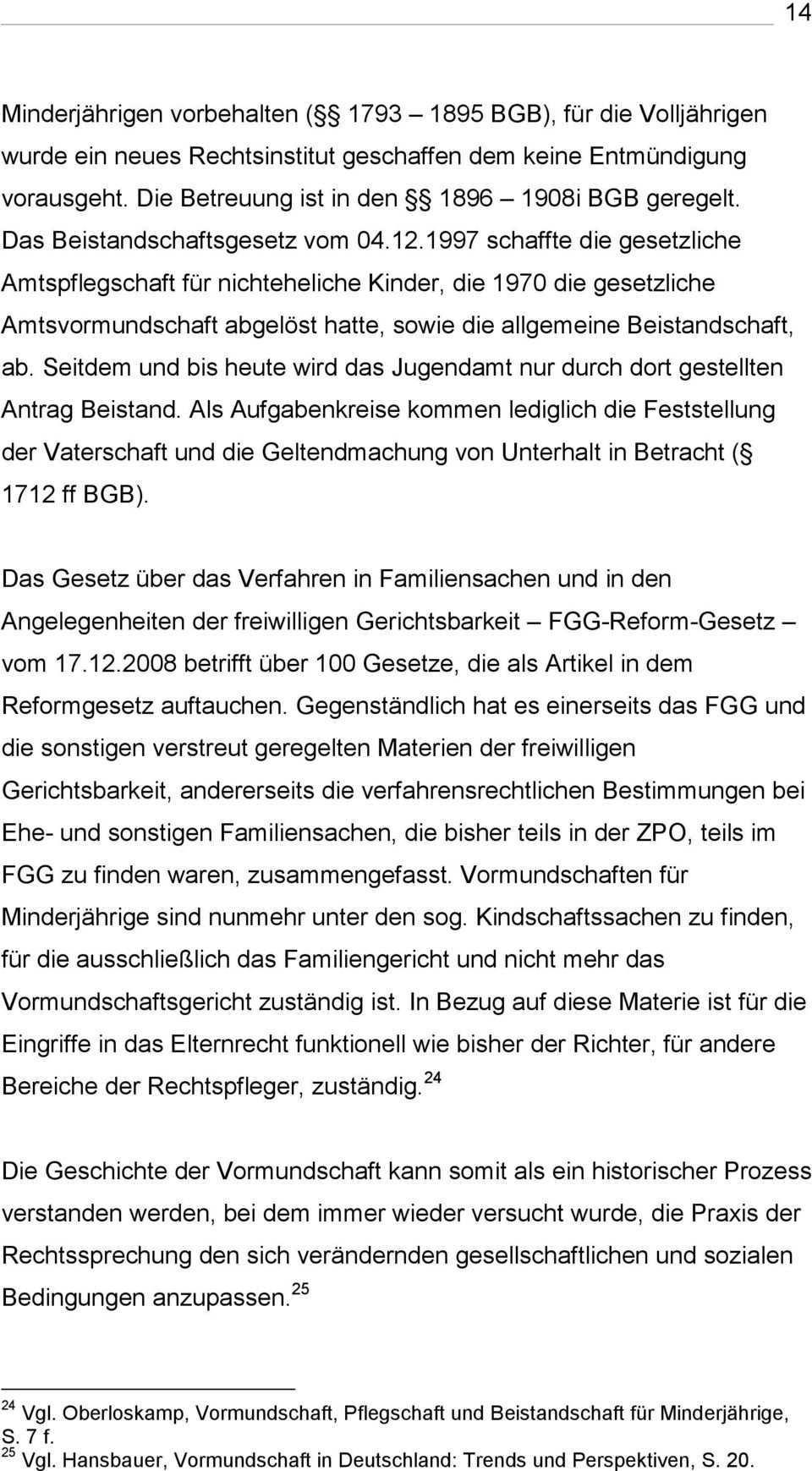 Das Vormundschaftsrecht Im Wandel Der Zeit Die Rechtliche Entwicklung Der Amtsvormundschaft Bachelorarbeit Pdf Kostenfreier Download
