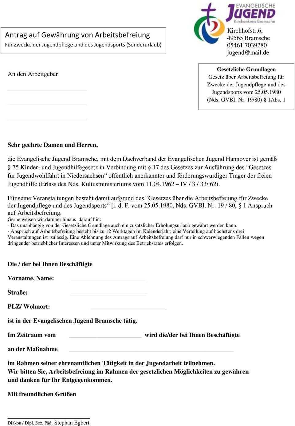 Informationen Zur Beantragung Von Sonderurlaub Und Verdienstausfall Pdf Free Download