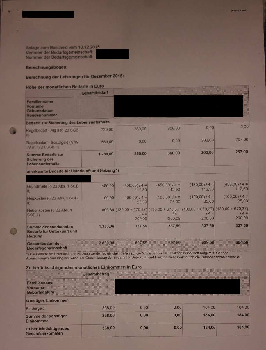 Antrag Auf Ubernahme Der Nebenkostenabrechnung Erwerbslosenforum Deutschland