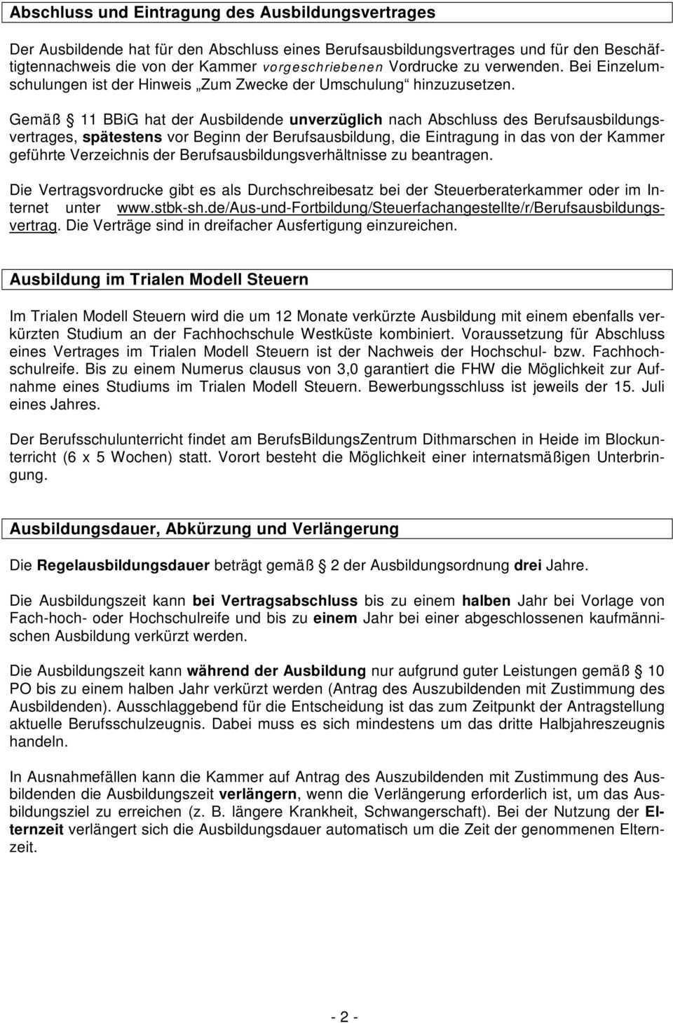 Merkblatt Fur Die Berufsausbildung Zum Zur Steuerfachangestellten Pdf Free Download