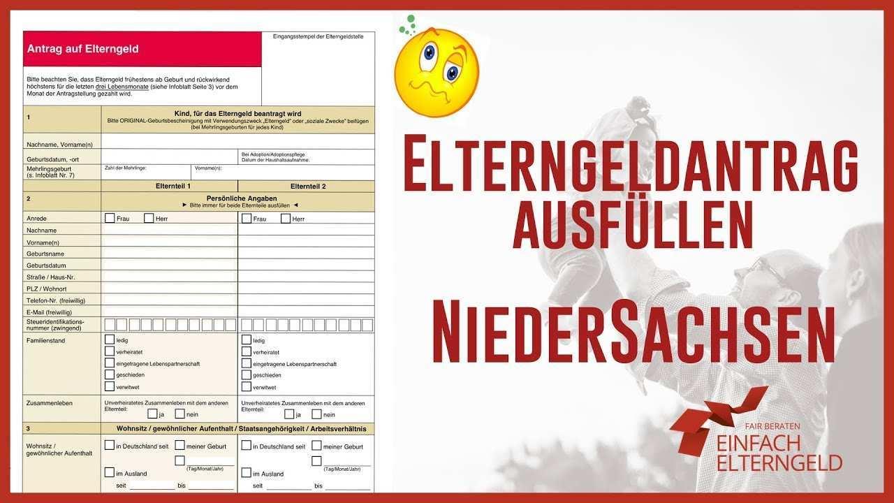 Elterngeldantrag Niedersachsen Antrag 2021 Download
