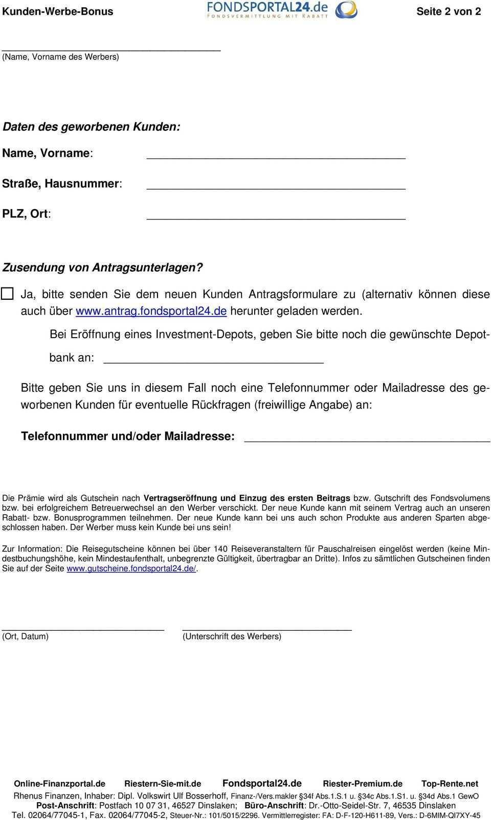 Betreuerwechsel Dws Riesterrente Premium Mit Sonderkonditionen Pdf Free Download