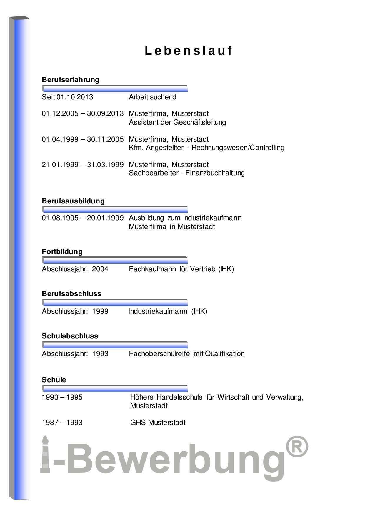 Initiativbewerbung Fur Den Assistenzbereich Muster Lebenslauf Vorlagen Lebenslauf Lebenslauf Lebenslauf Tipps