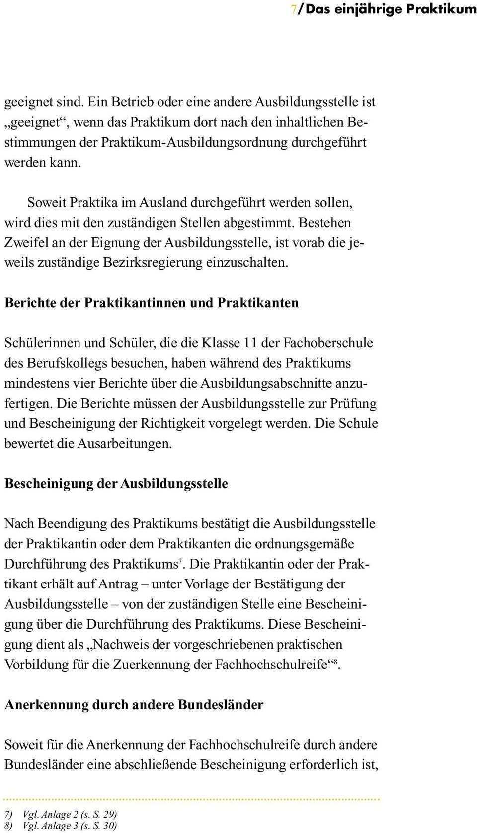 Ministerium Fur Schule Jugend Und Kinder Des Landes Nordrhein Westfalen Das Praktikum Zum Erwerb Der Fachhochschulreife Pdf Free Download