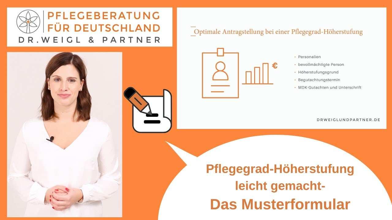 Muster Antrag Zu Ihrer Pflegegrad Hoherstufung Dr Weigl Partner