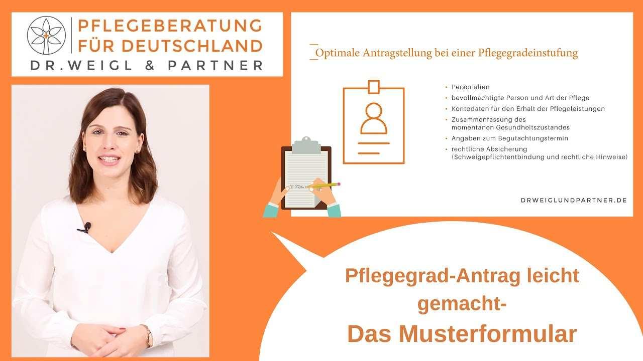 Muster Zu Ihrem Pflegegrad Antrag Dr Weigl Partner