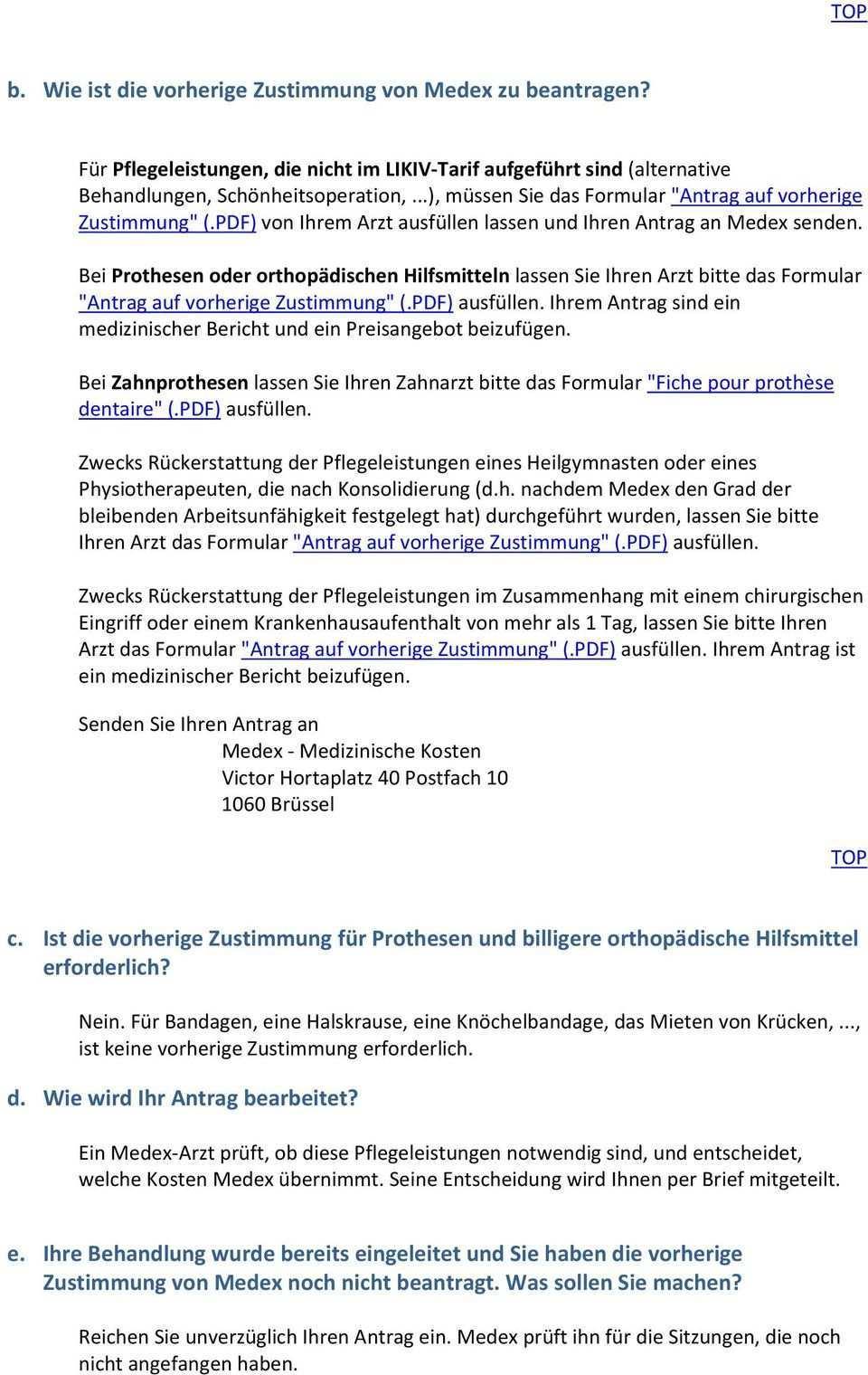 Arbeitsunfalle Ruckerstattung Der Medizinischen Kosten Und Fahrtkosten Durch Medex Pdf Free Download