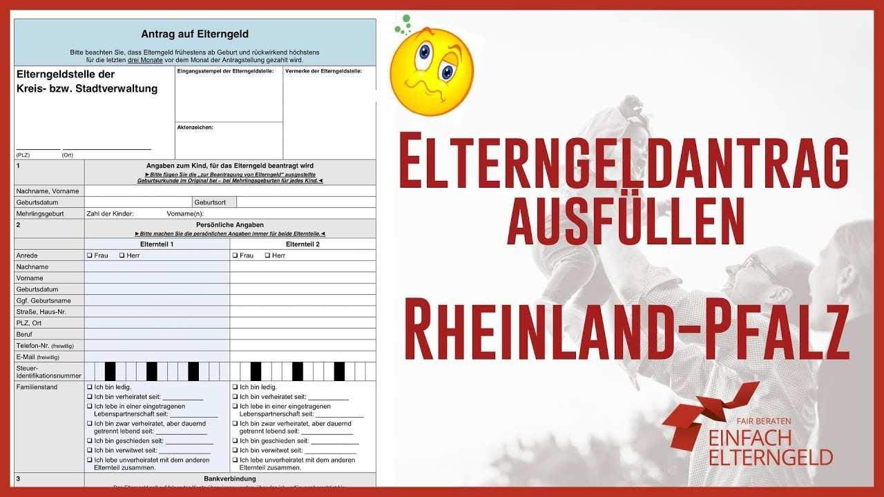 Elterngeld Antrag Ausfullen Rheinland Pfalz Youtube