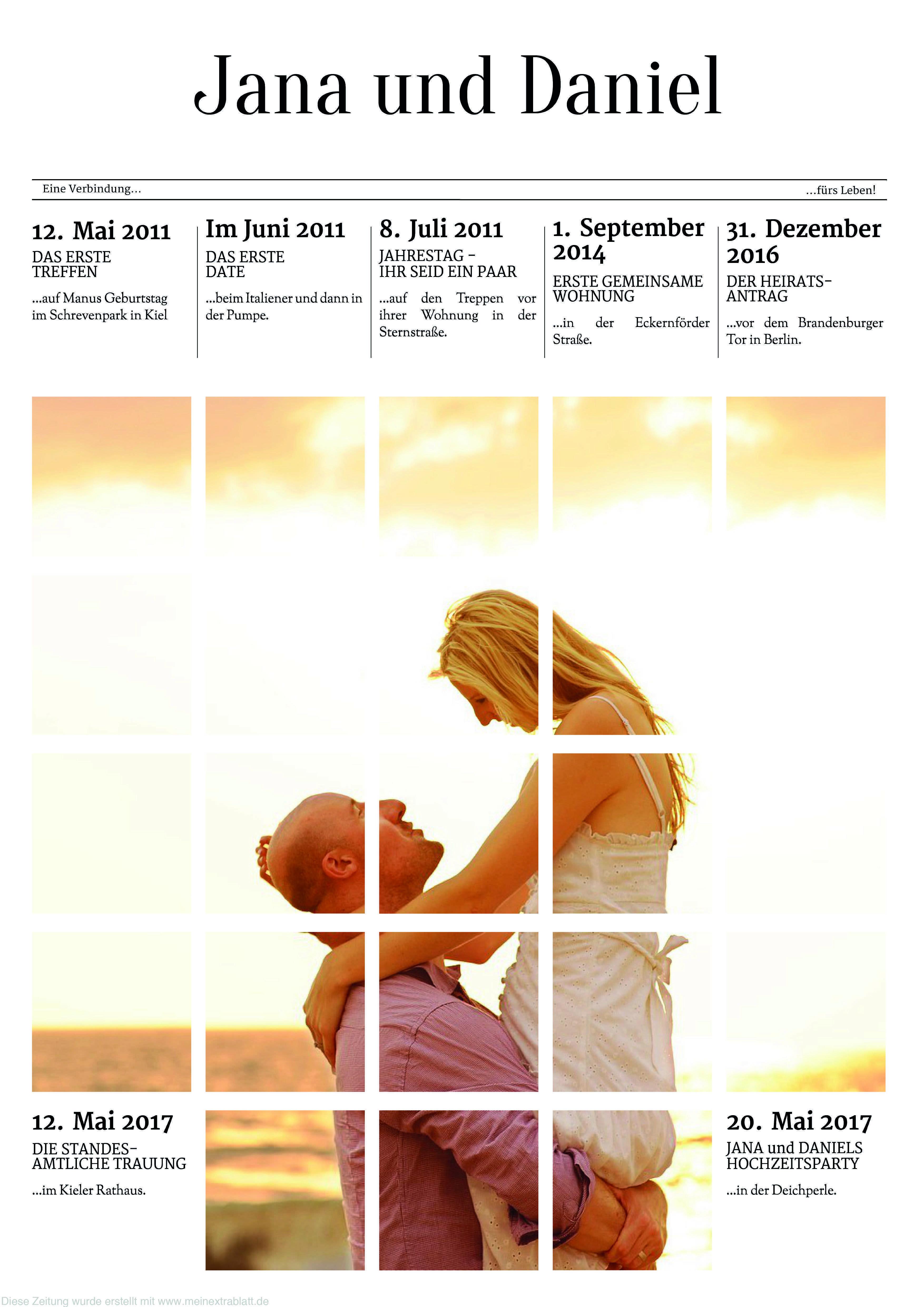 Mal Eine Etwas Andere Titelseite Einer Hochzeitszeitung Gestaltet Auf Www Meinextrablatt De Hochzeitszei Hochzeitszeitung Hochzeitszeitung Gestalten Hochzeit