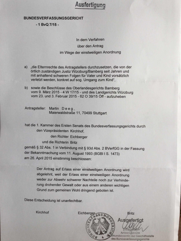 Missachtung Egmr Martindeeg