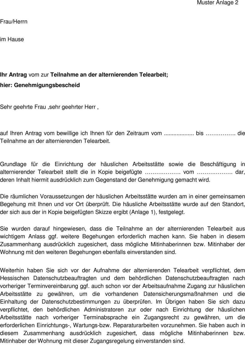 Alternierende Telearbeit In Der Hessischen Landesverwaltung Pdf Kostenfreier Download
