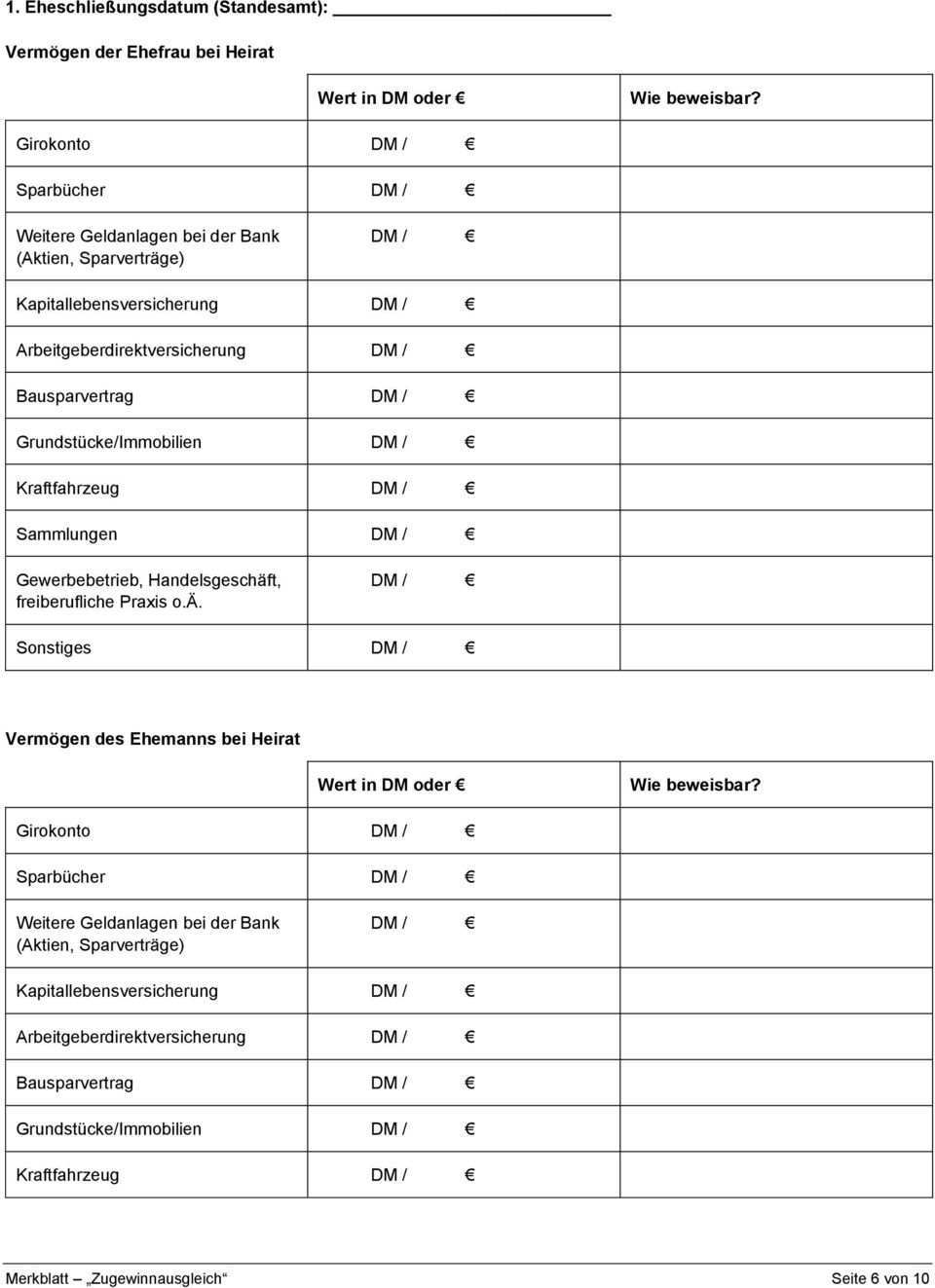 Merkblatt Zugewinnausgleich Pdf Free Download