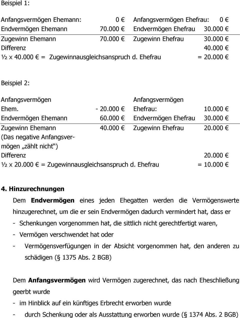 Zugewinnausgleich Nach Altem Und Neuem Recht Pdf Kostenfreier Download