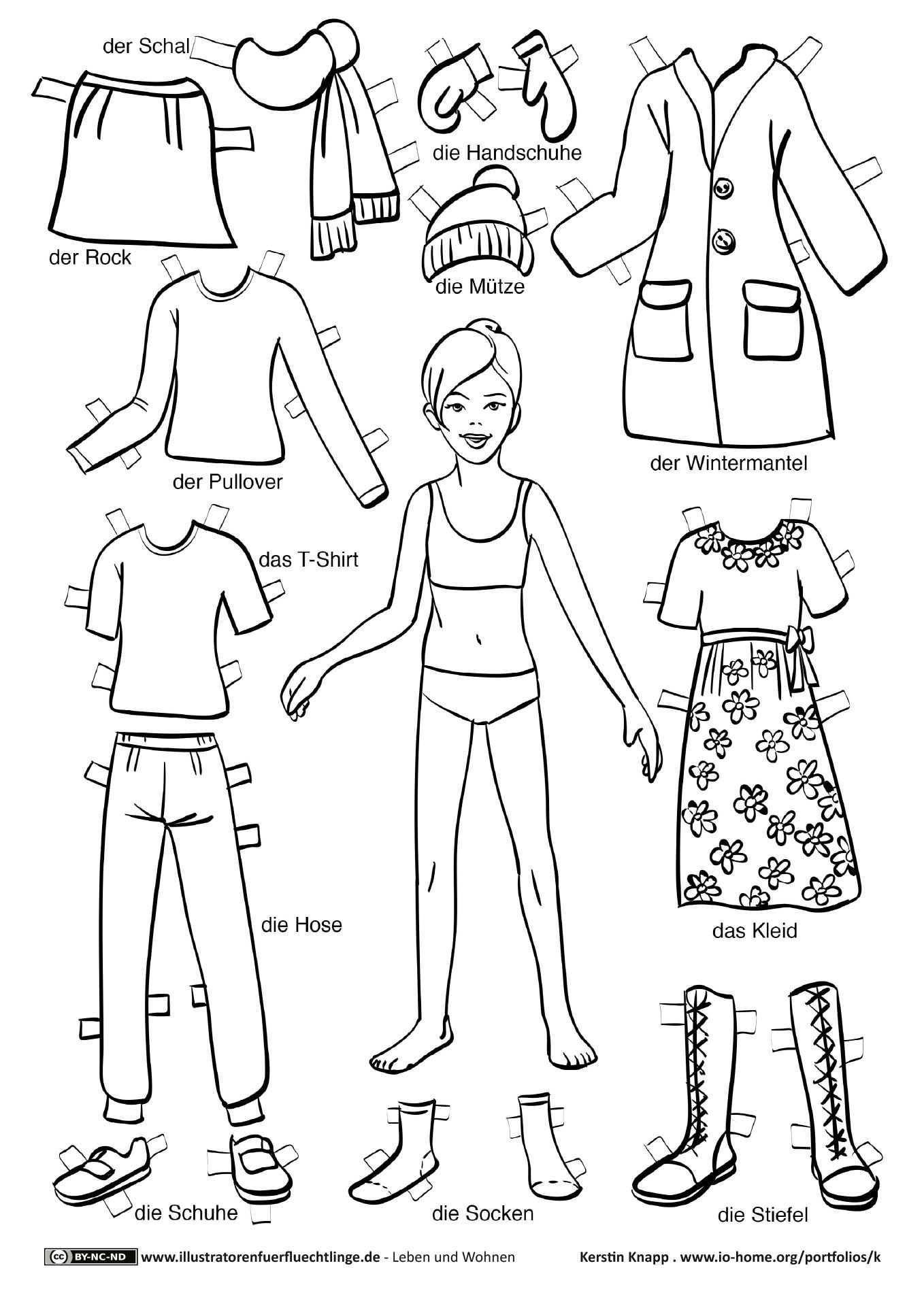 Download Als Pdf Leben Und Wohnen Kleidung Anziehpuppe Madchen Knapp Papierpuppen Papier Kleidung Puppen