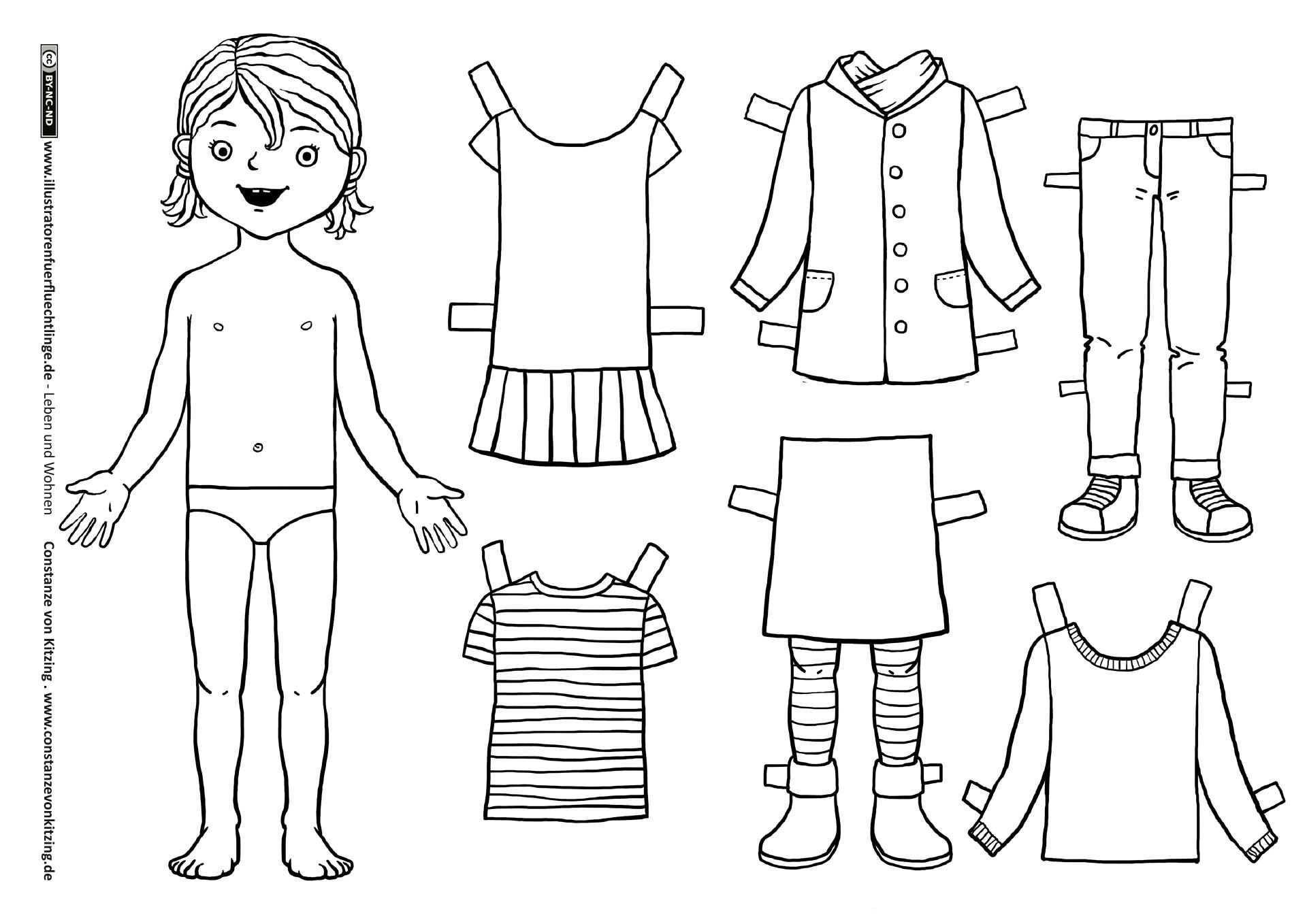 Download Als Pdf Leben Und Wohnen Kleidung Anziehpuppe Madchen Von Kitzing Papierpuppen Papier Kind Ausmalbilder
