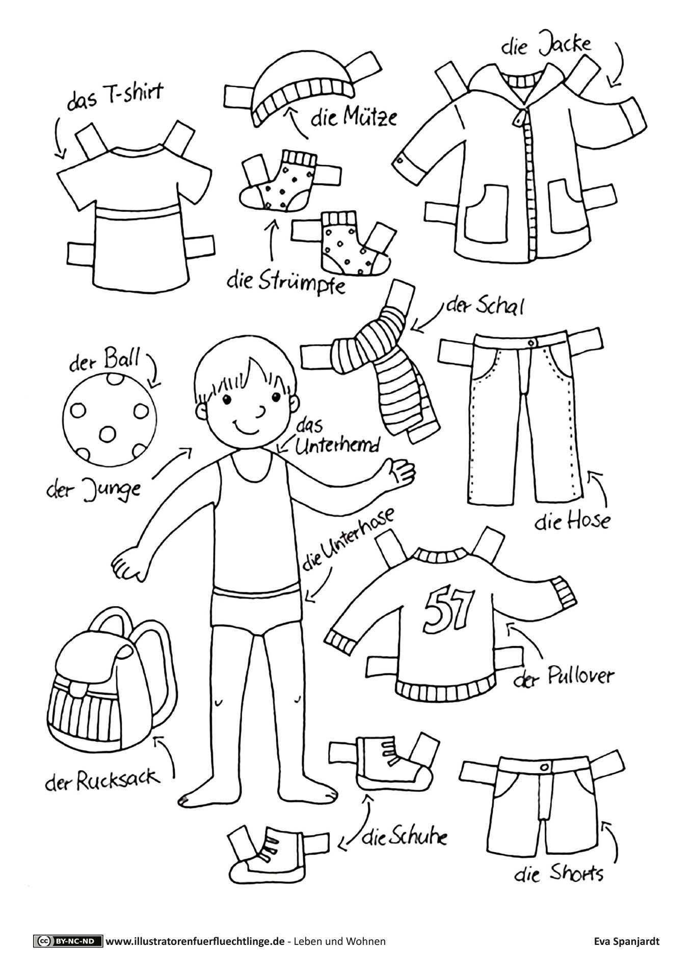 Download Als Pdf Leben Und Wohnen Kleidung Anziehpuppe Junge Spanjardt Kinder Lernen Kindergartenthemen Vorschule