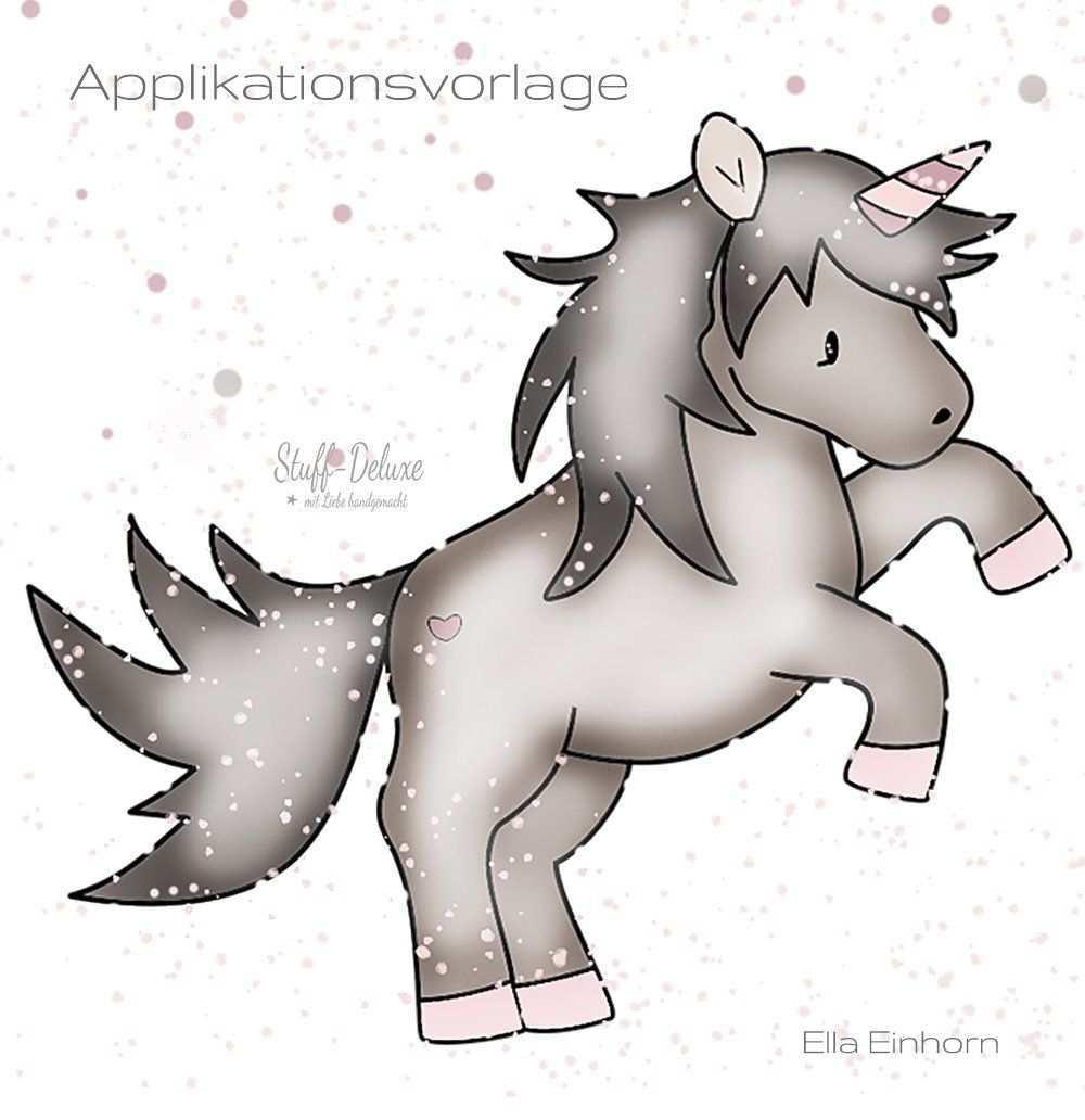 Applikationsvorlage Ella Einhorn Stuff Deluxe Applikation Vorlagen Applikationsvorlage Applikationsvorlagen