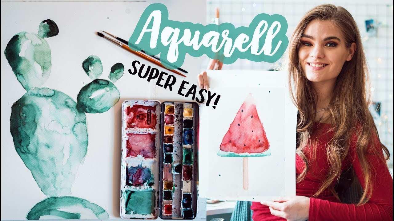 Aquarell Malen Fur Anfanger Tipps Fur Schone Watercolor Bilder I Mjette Youtube