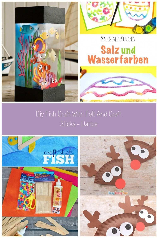 Aquarium Fische Basteln Aus Tonkarton Mit Kindern Diy Fish Mit Kindern Kreativ Fische Basteln Mit Kindern Zum De Craft Stick Crafts Learn Crafts Fish Crafts