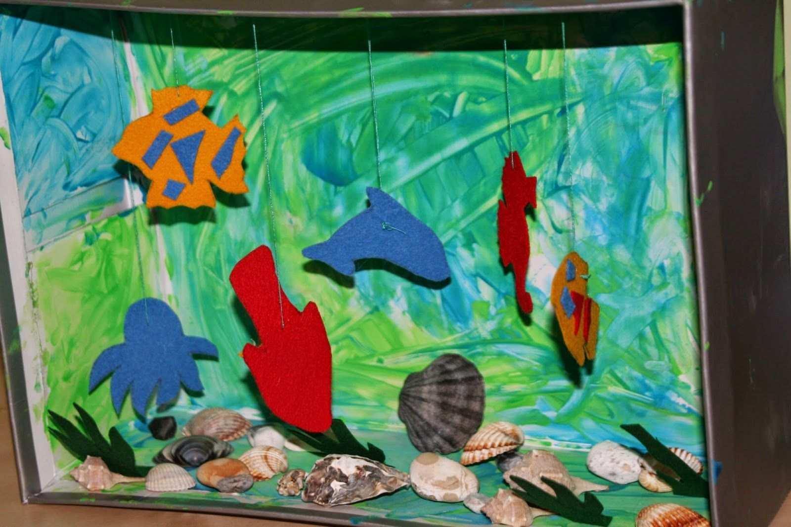 Wir Haben Ein Aquarium Aquarium Teppich Knupfen Schuhkarton