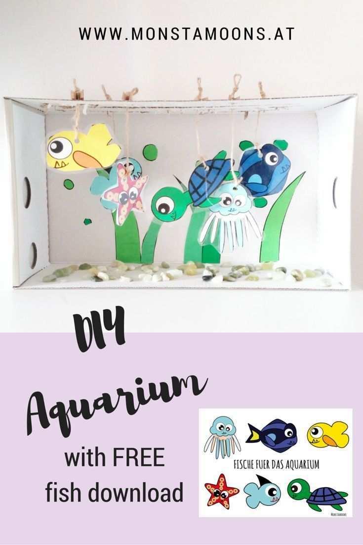 Einfaches Aquarium Basteln Basteln Diy Aquarium Ideen Zum Selbermachen Fur Kinder