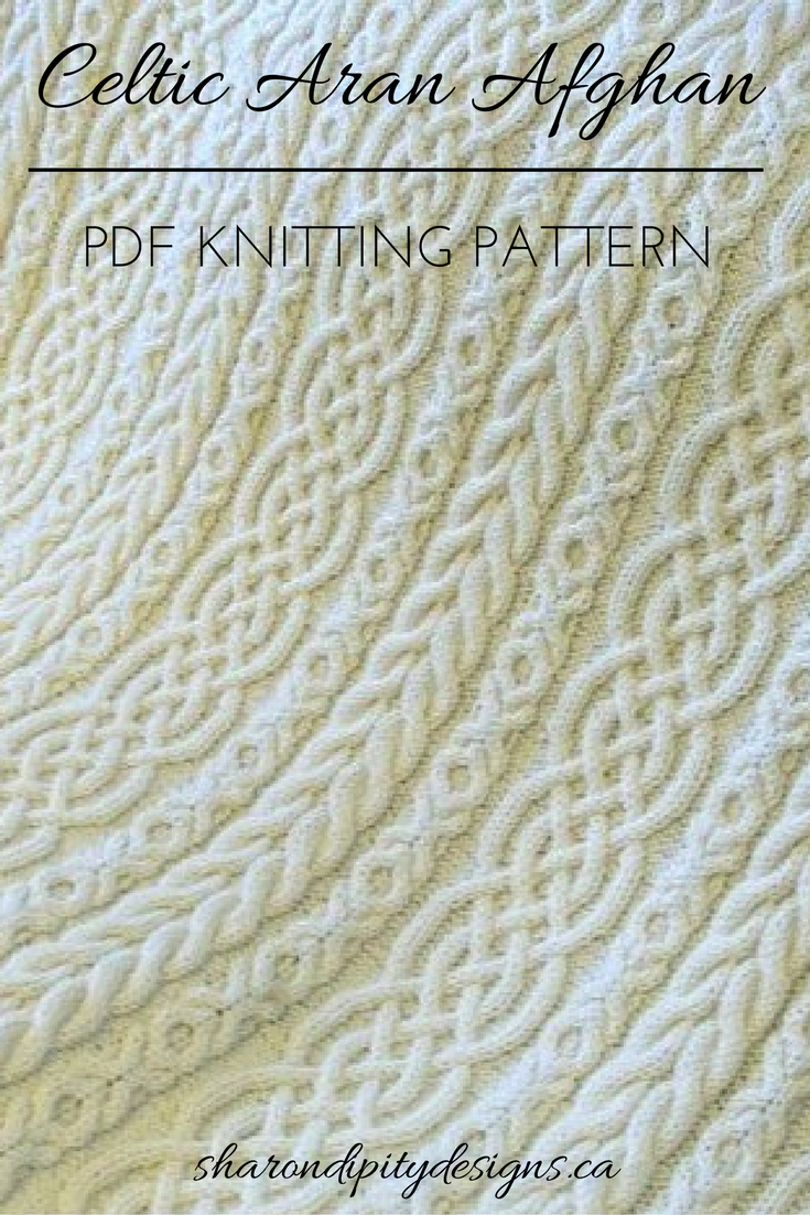 Celtic Aran Afghan Cable Knit Afghan Aran Afghan Pdf Knitting Pattern Irish Knit Strickdecke Muster Zopfmuster Stricken Muster Stricken