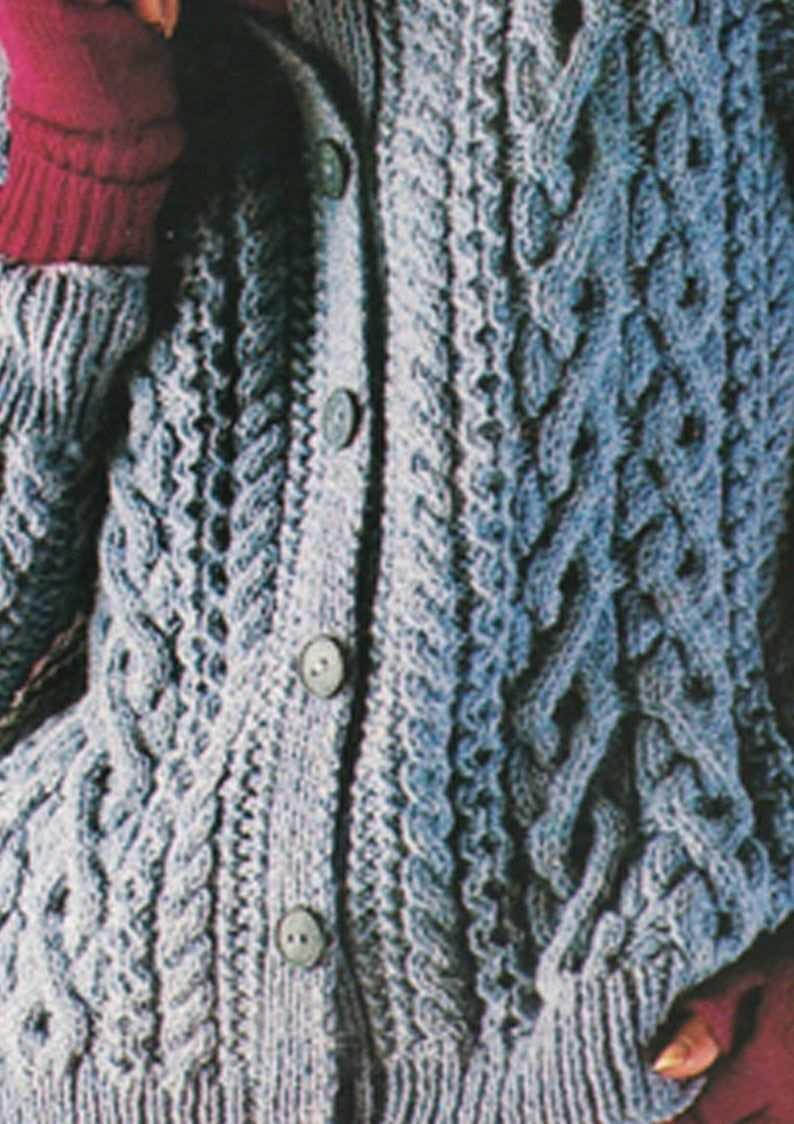 Pdf Vintage Pretty Womens Ladies Blue Knitting Pattern Aran Etsy In 2020 Jumper Knitting Pattern Sweater Pattern Aran Knitting Patterns