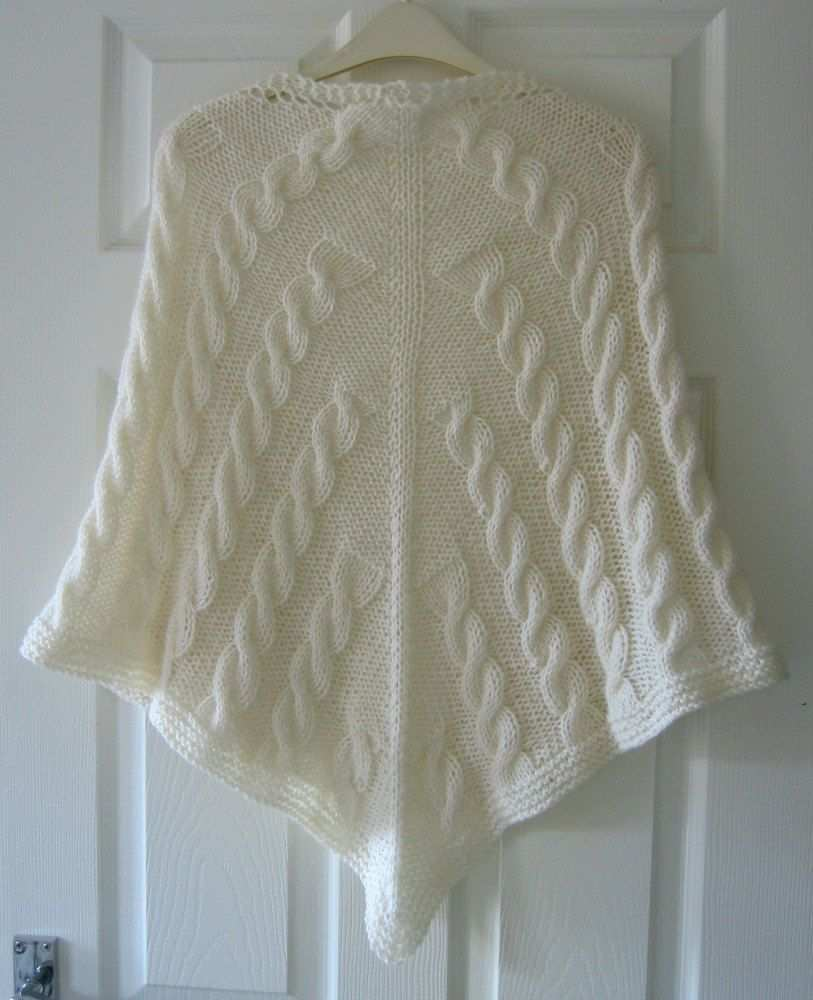 Full Cable Shawl Pdf Knitting Pattern Cables Aran Yarn Written Pattern Trico E Croche Trico Pontos De Trico