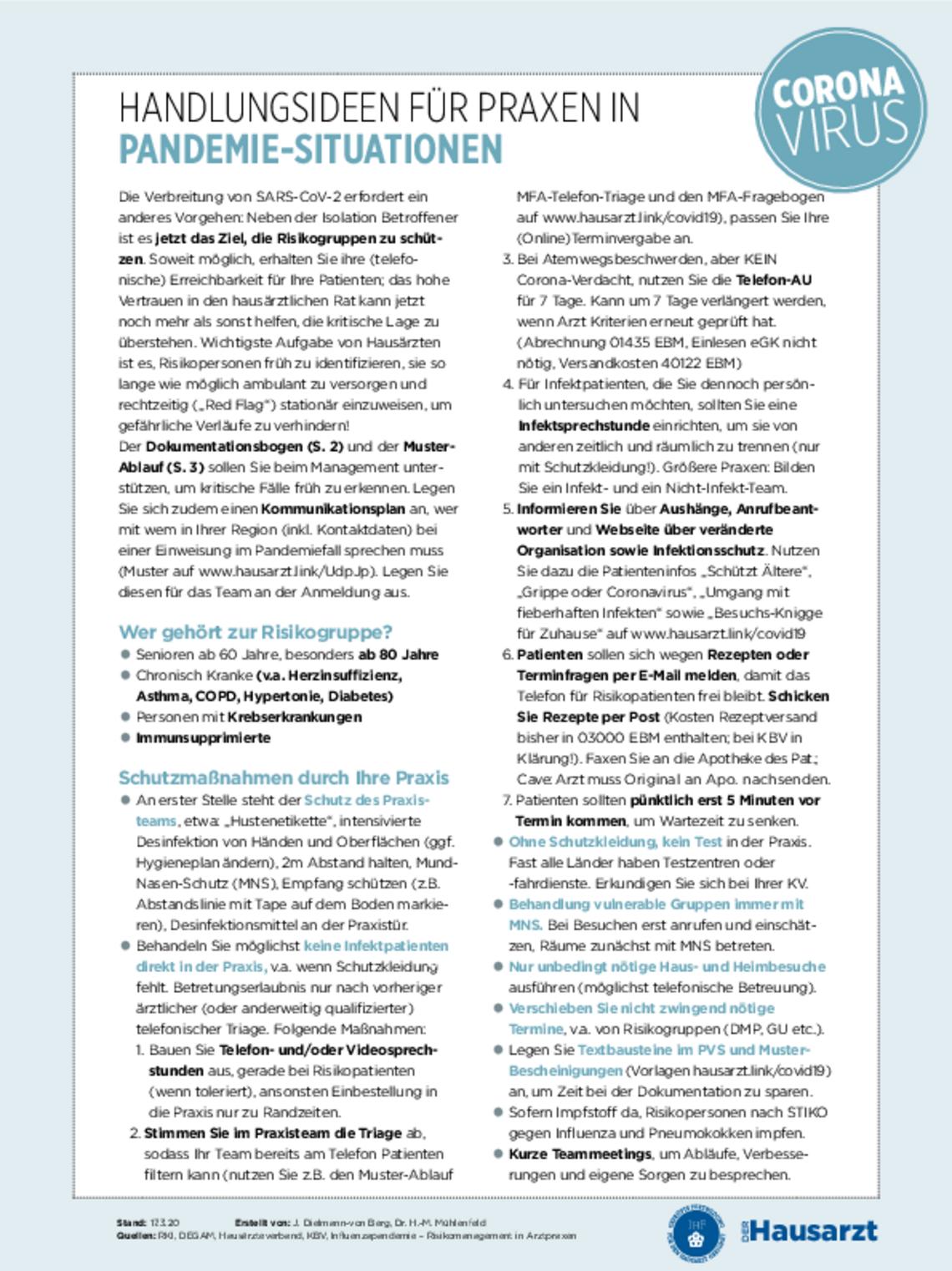 Covid 19 Praxisinformation Verah
