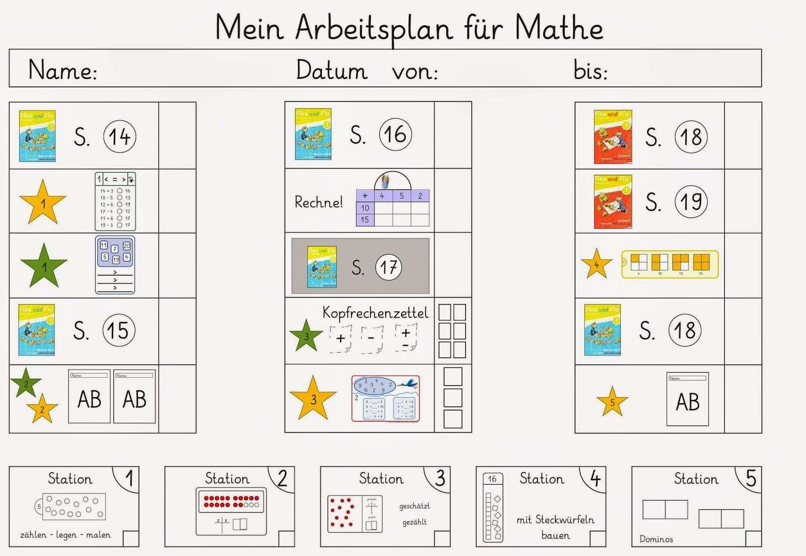 Wieder Mal Ein Arbeitsplan Fur Mathe Arbeitsplaner Mathe Schule