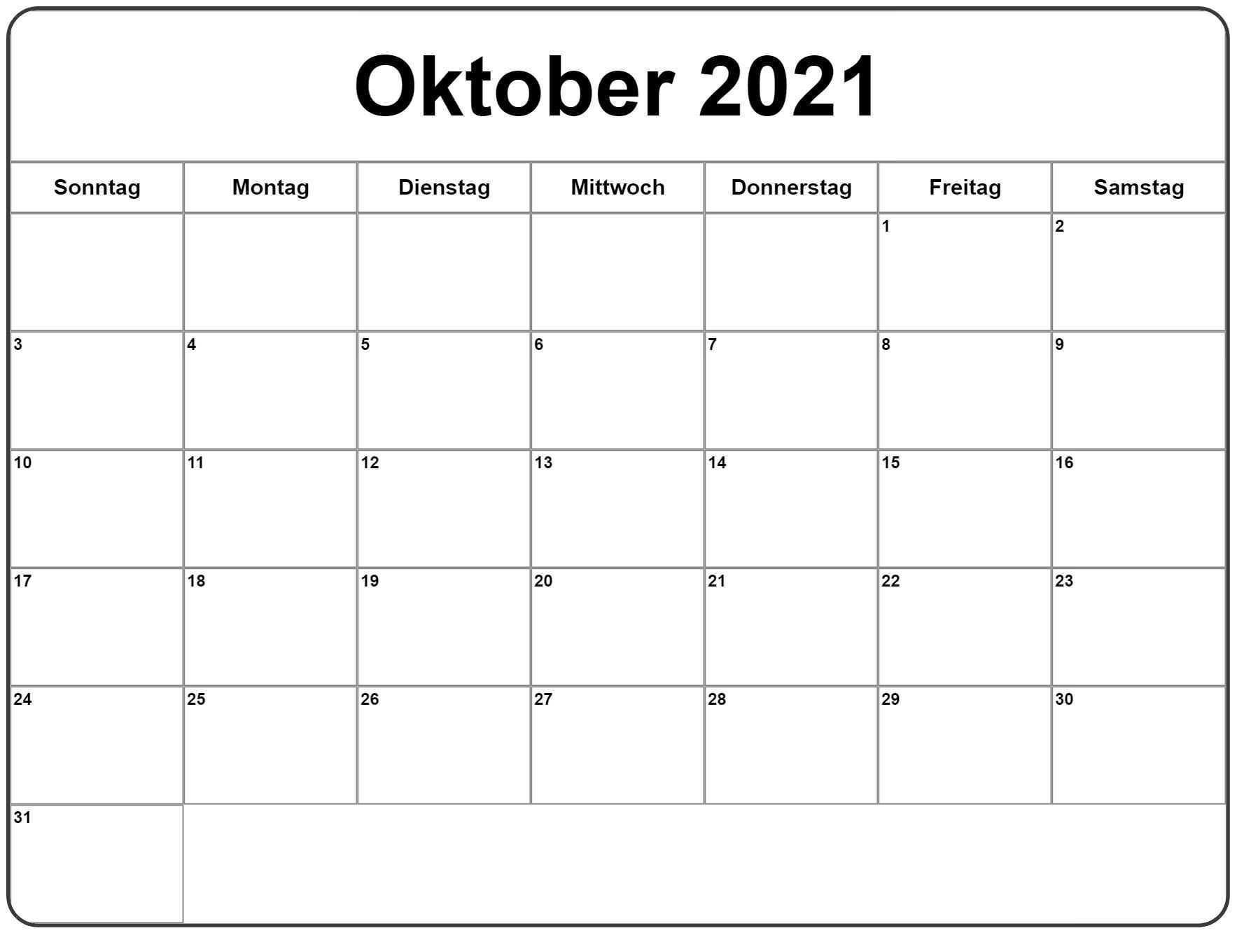 Oktober 2021 Kalender Zum Ausdrucken 2019 Kalender Kalender Vorlagen Kalender