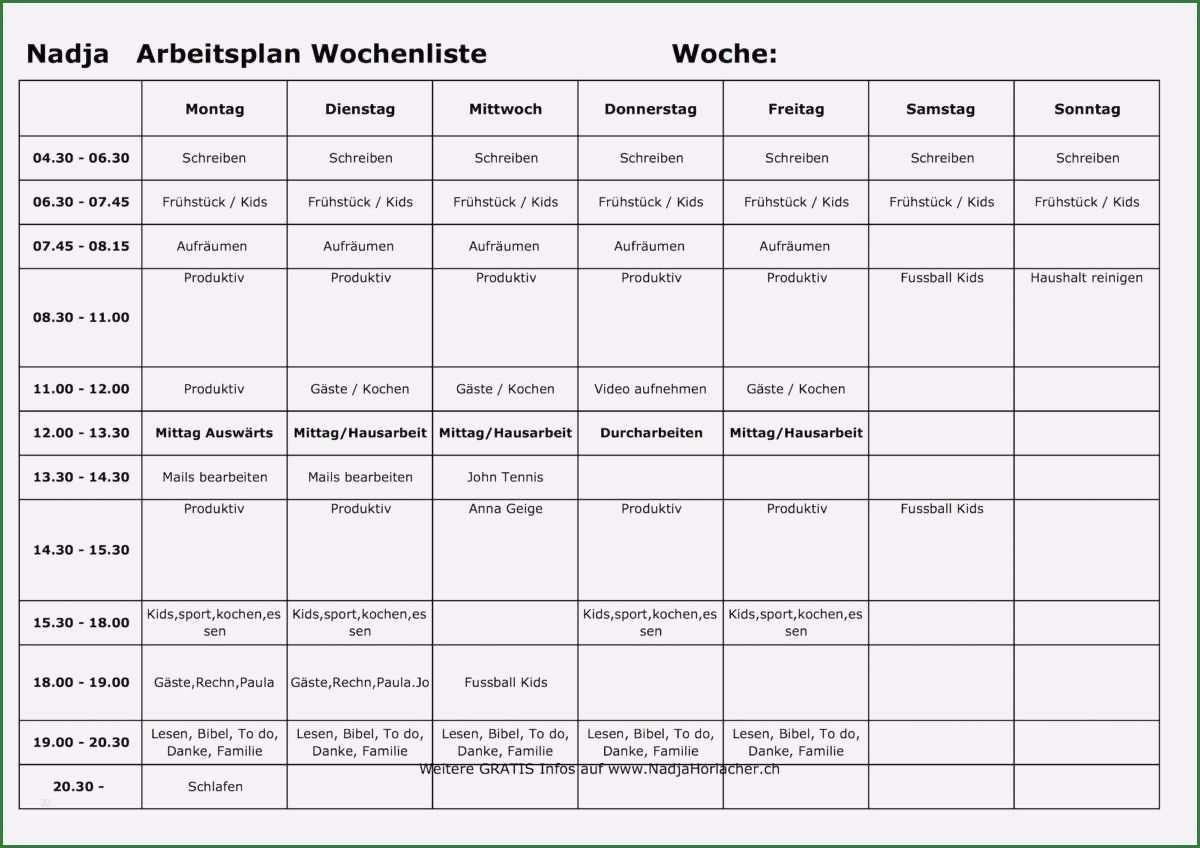 30 Schonste Arbeitsplan Woche Vorlage Bilder Arbeitsplaner Briefkopf Vorlage Geschenkgutschein Vorlage