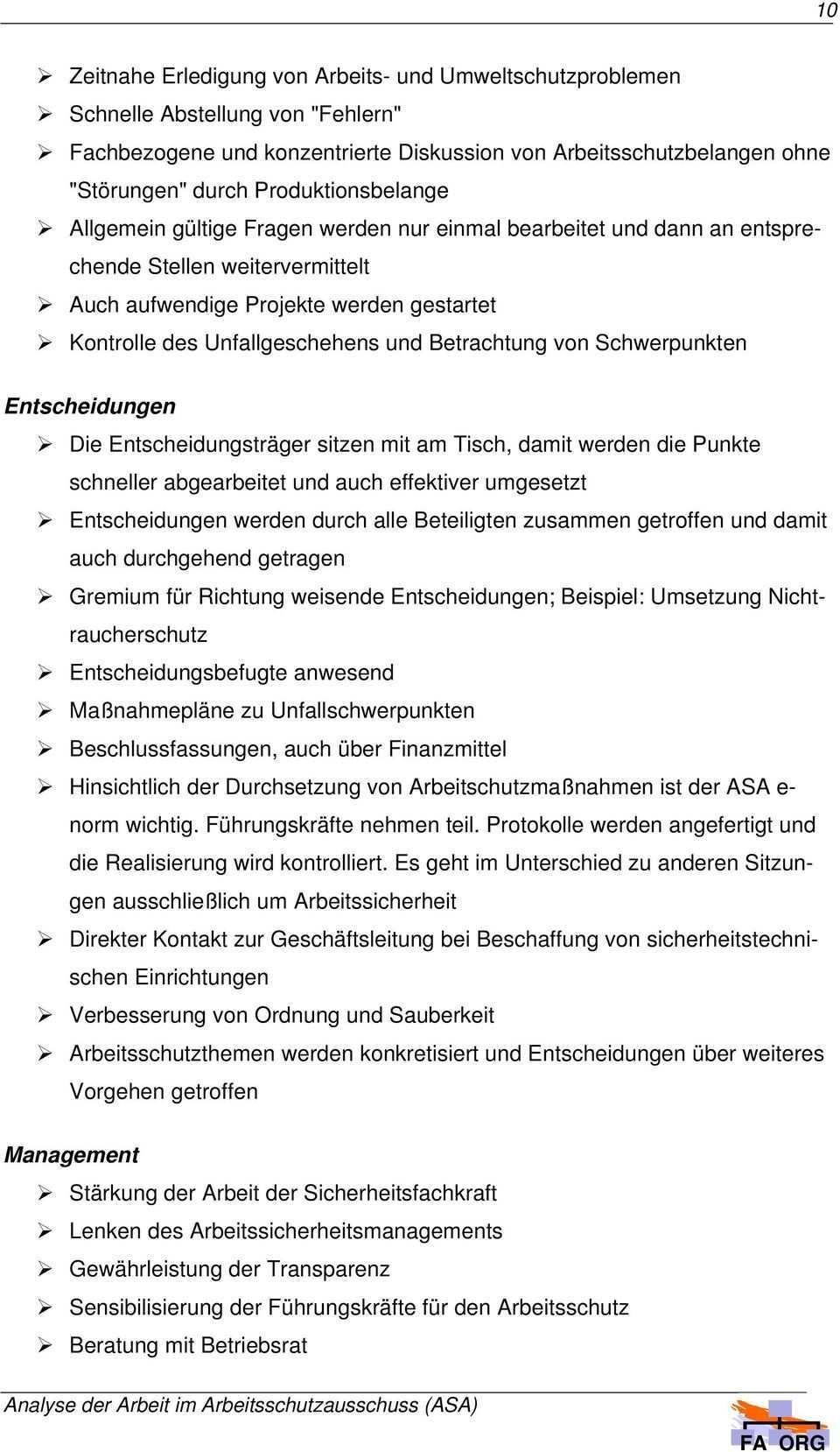 Analyse Der Arbeit Im Arbeitsschutzausschuss Projektabschlussbericht Pdf Kostenfreier Download