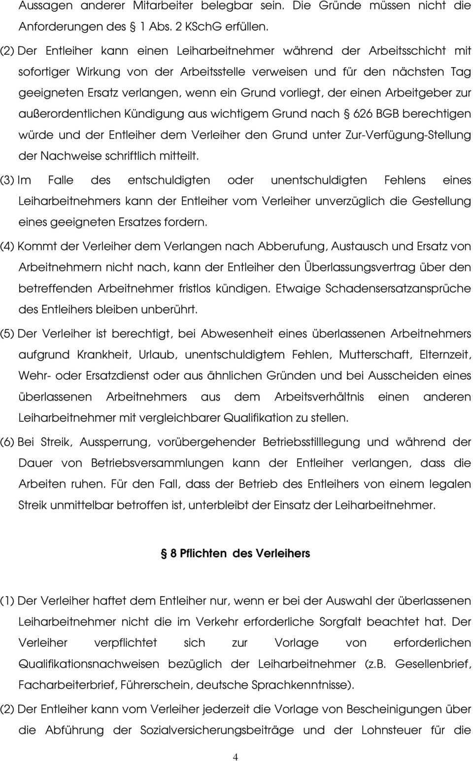 Arbeitnehmeruberlassungsvertrag Pdf Kostenfreier Download