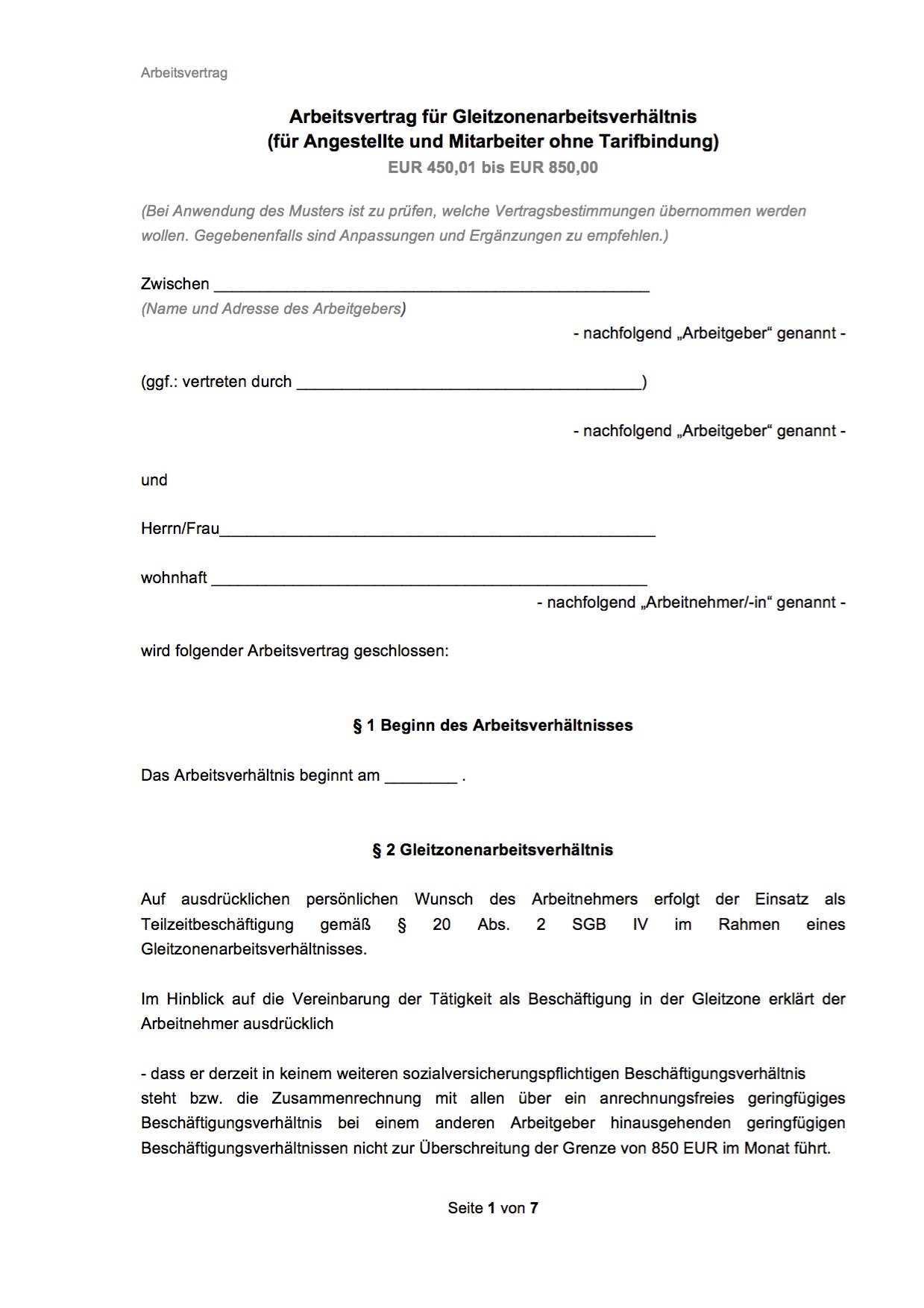 Arbeitsvertrage Muster Vorlagen Kostenlos Als Pdf Word Instaff