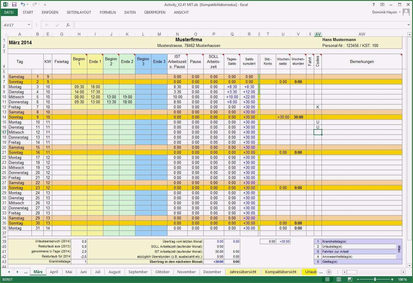 14 Atemberaubend Open Office Zeiterfassung Vorlage Zum Ausprobieren Excel Vorlage Zeiterfassung Lebenslauf Layout