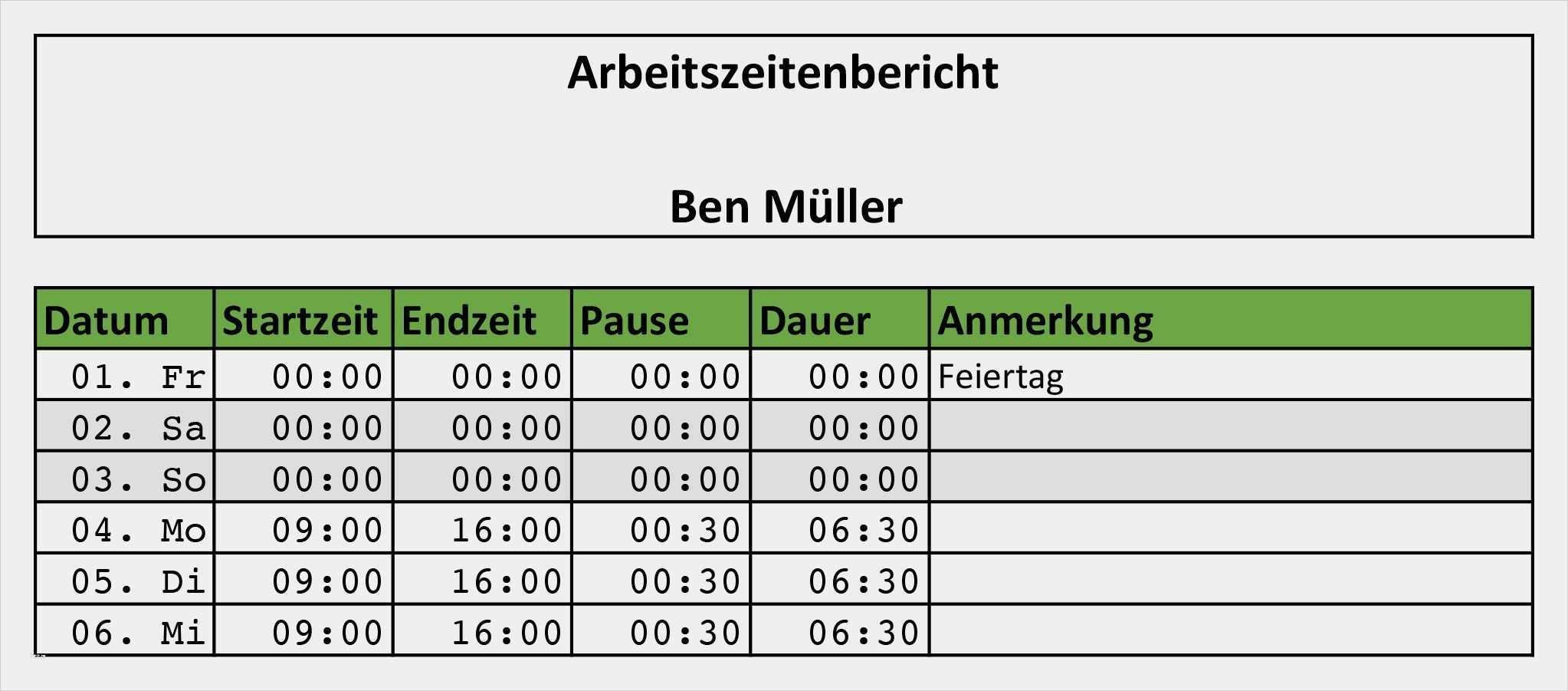 39 Erstaunlich Excel Arbeitszeit Vorlage Galerie In 2020 Excel Vorlage Zeiterfassung Vorlagen