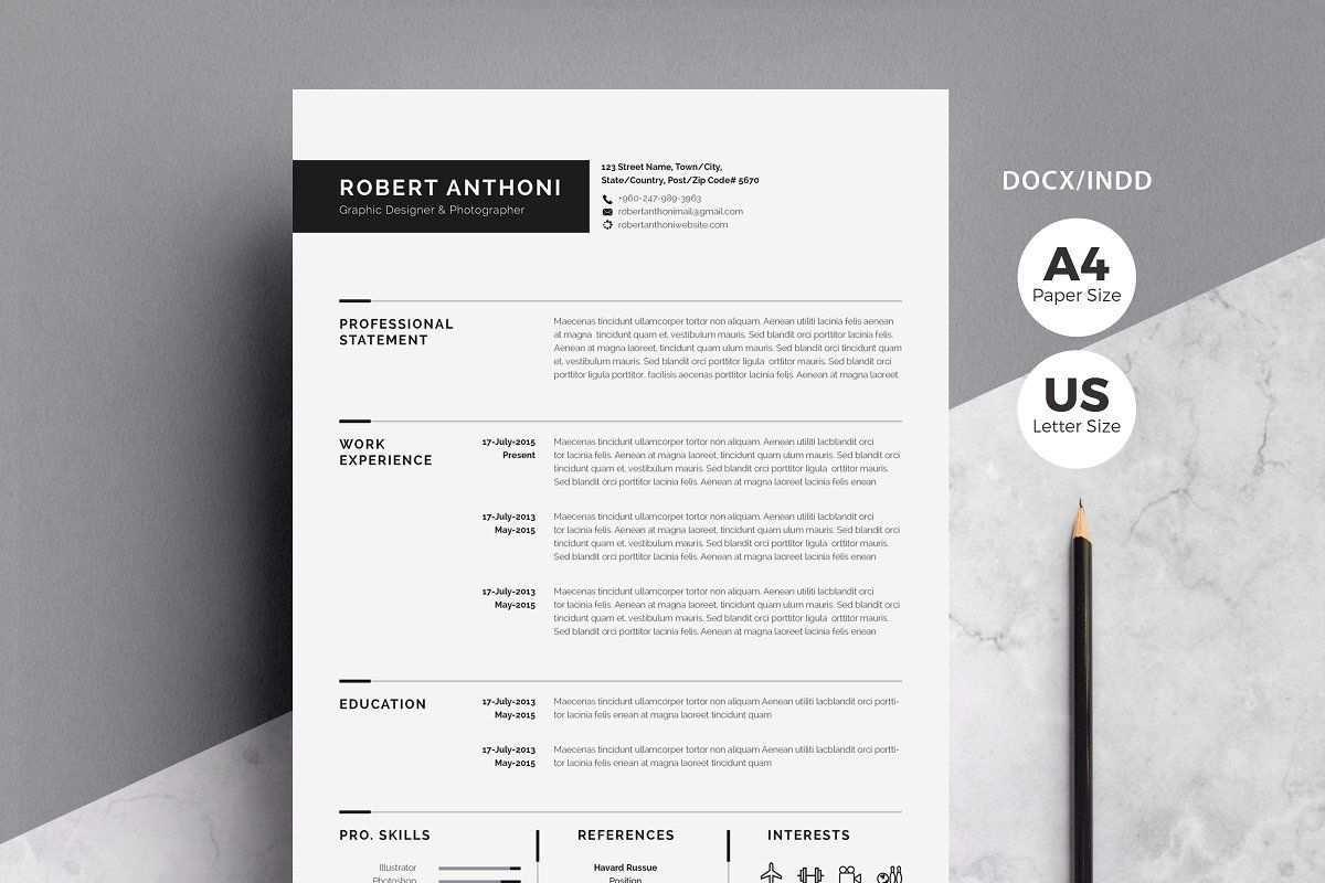 Clean Resume Cv Cover Letter For Resume Creative Resume Templates Cover Letter Template