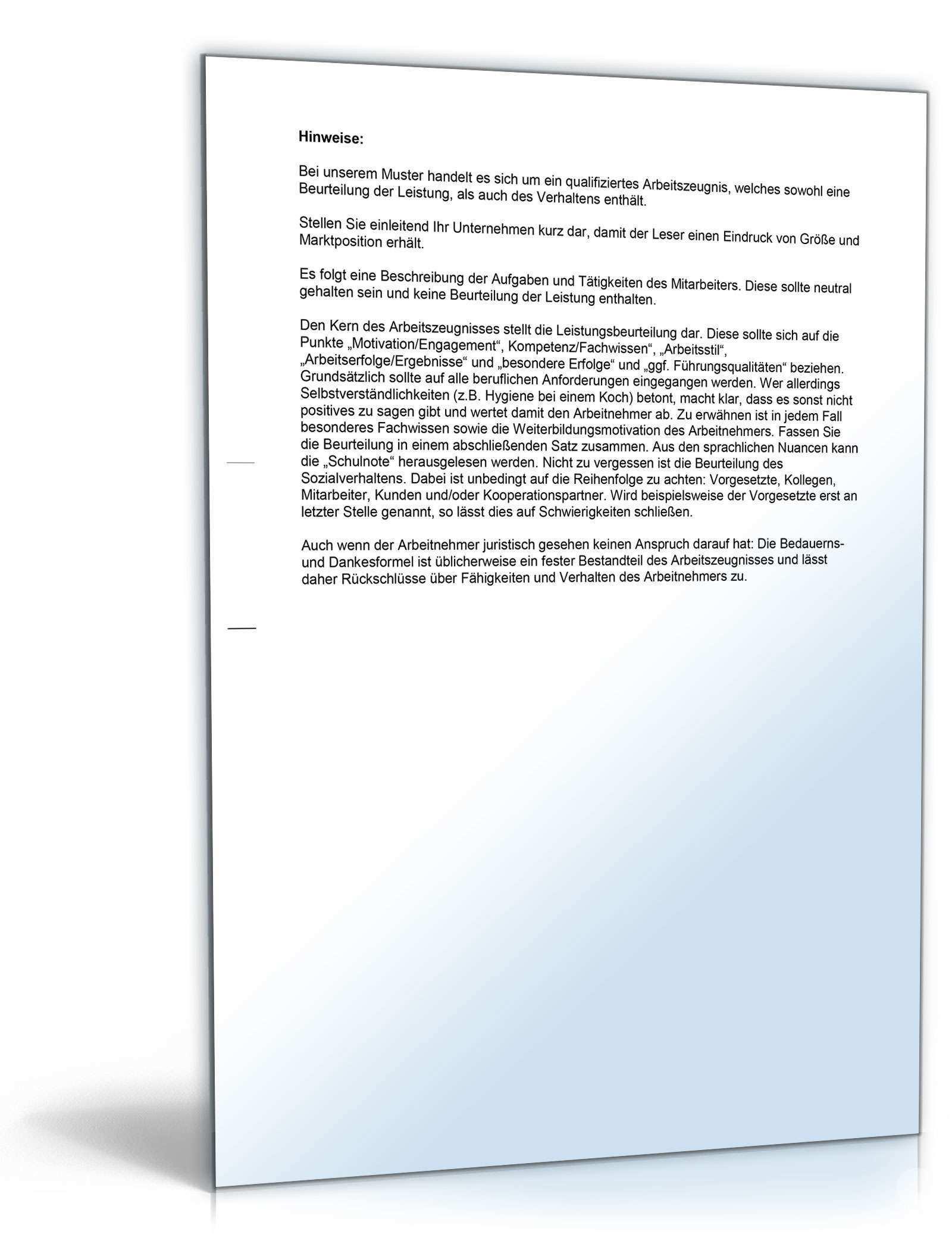 Arbeitszeugnis Kosmetikerin Editierbare Muster Zum Download