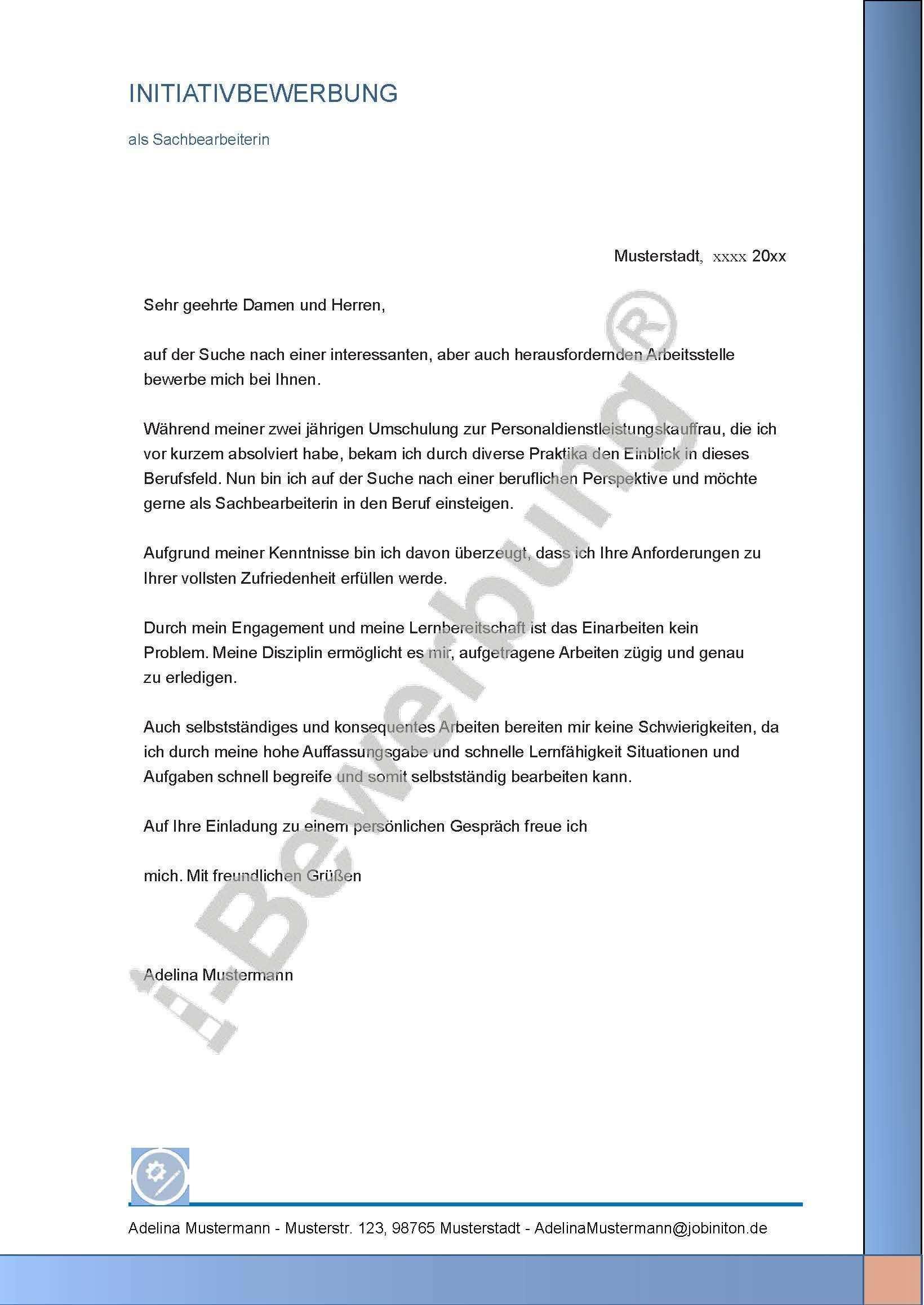 Muster Fur Das Bewerbungsanschreiben Als Sachbearbeiterin Adelina 625 In 2020 Bewerbung Anschreiben Bewerbung Bewerbung Lebenslauf