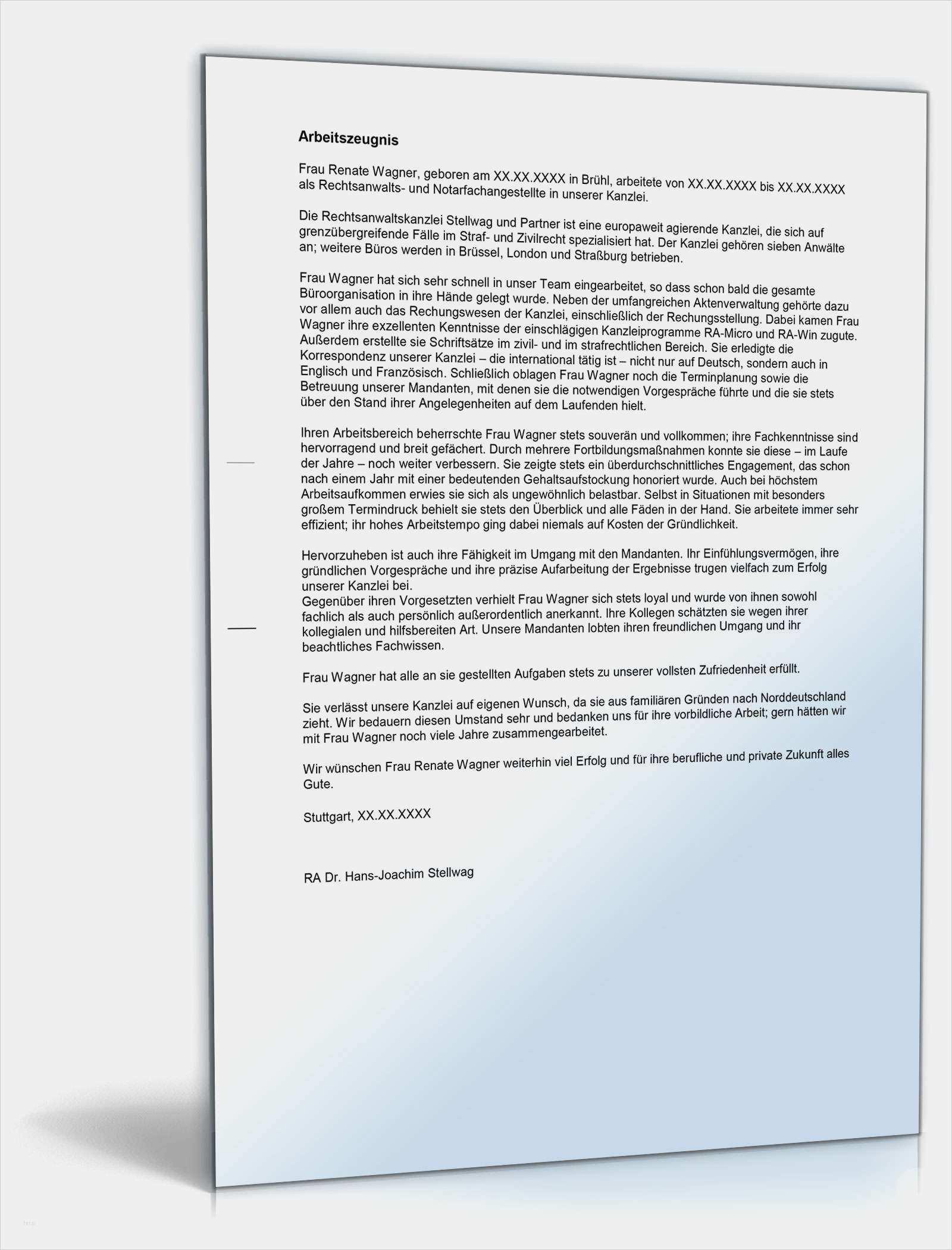 Neu Arbeitszeugnis Elektrotechniker Vorlagen Modelle Arbeitszeugnis Zeugnis Rechtsanwaltsfachangestellte