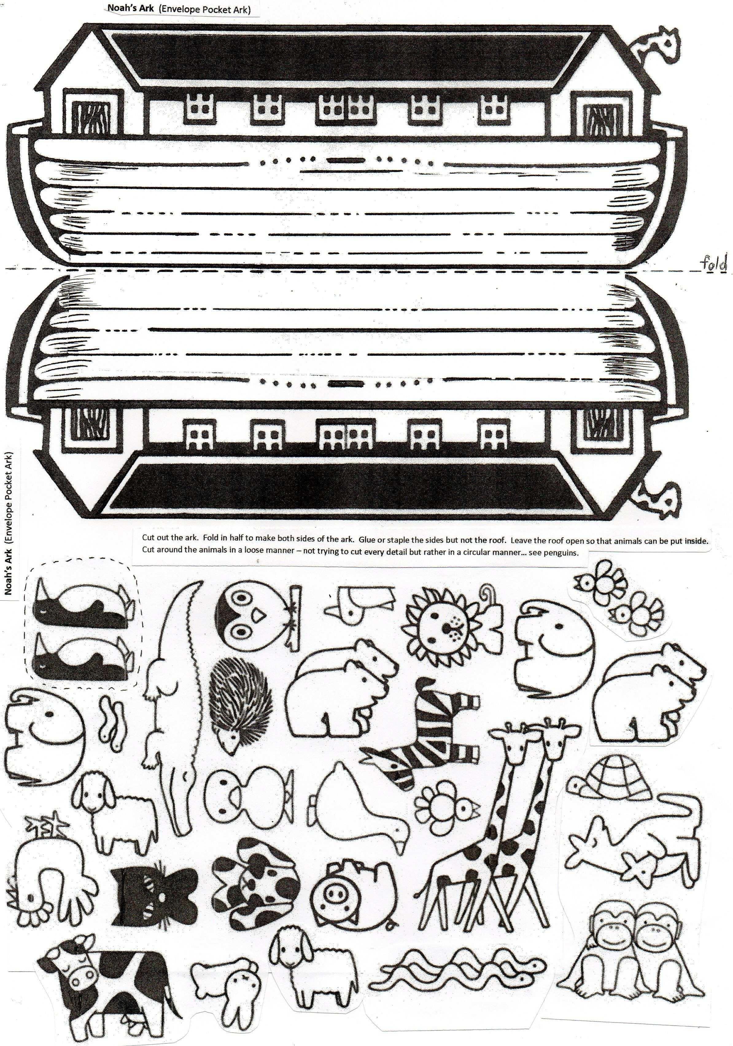 Noah S Ark Craft This Folded Paper Envelope With Ark Animals Inside Will Delight Children Easy To Asse Bibel Bastelprojekte Kinderbibel Sonntagsschule Basteln