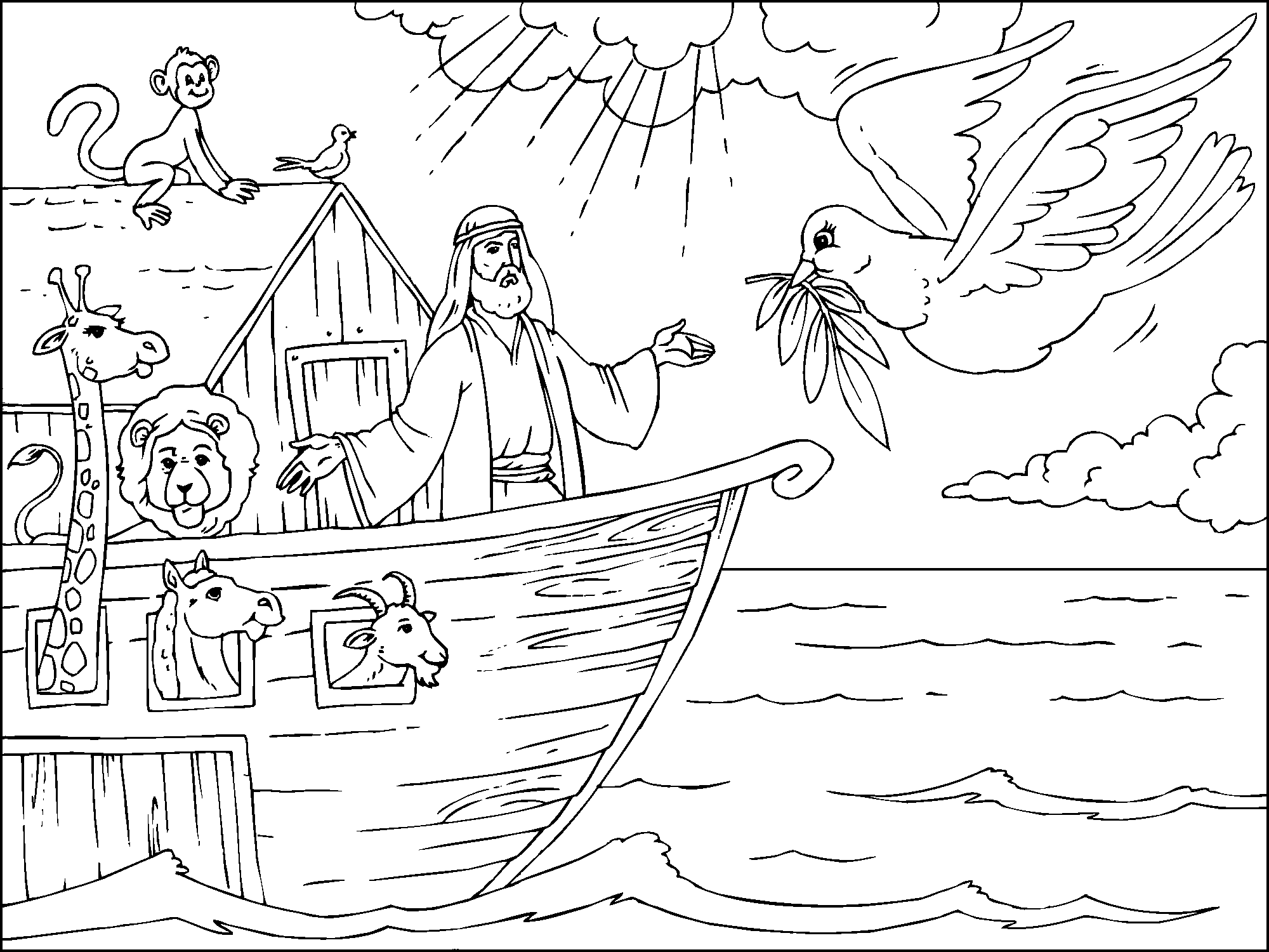 Noah S Ark Coloring Page In 2020 Bible Coloring Pages Bible Coloring Sunday School Coloring Pages