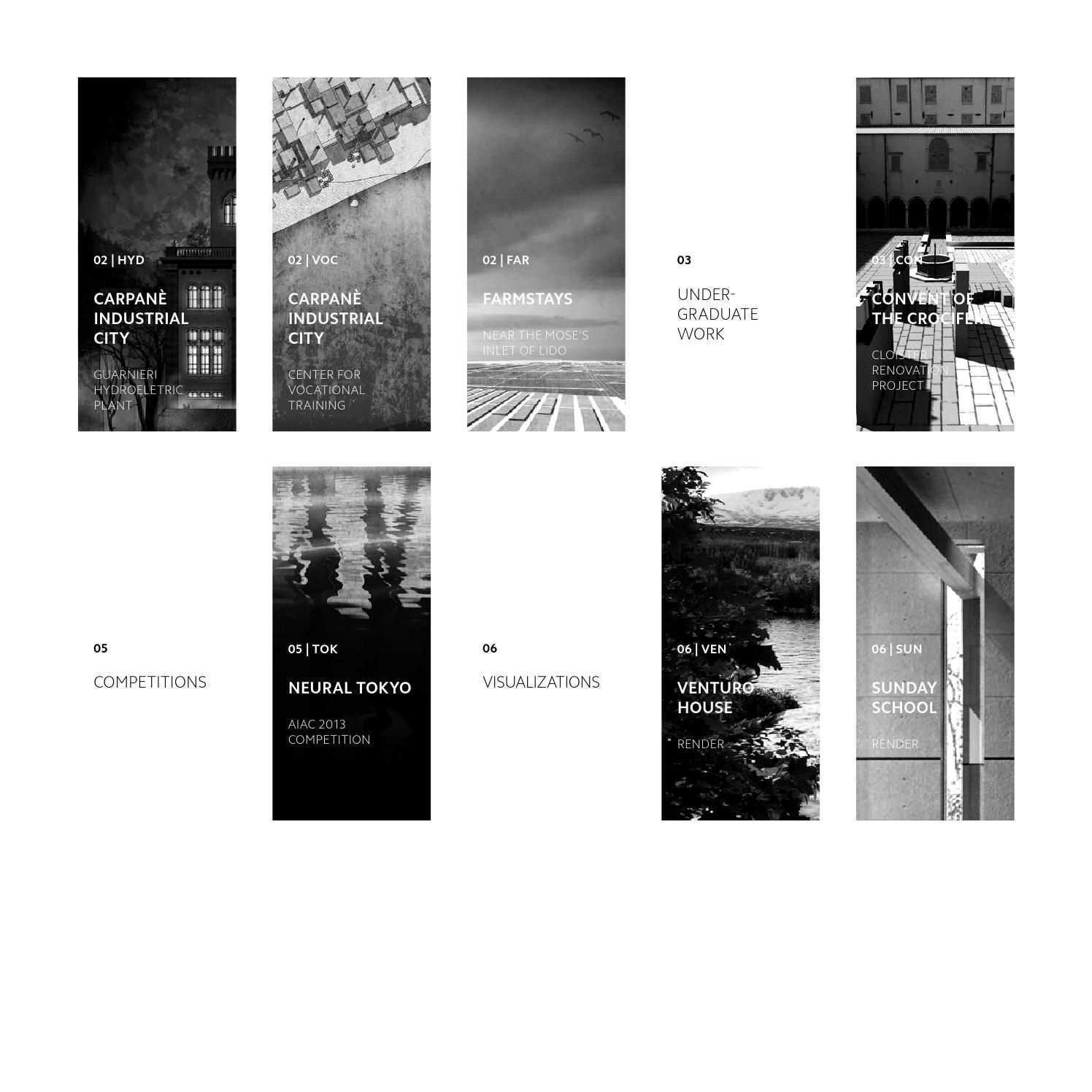 Andrea Cogo Graduate Architecture Portfolio Architecture Portfolio Layout Portfolio Design Layout Architecture Portfolio Design