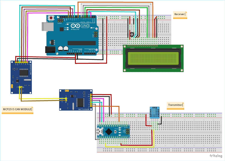 Arduino Can Tutorial Interfacing Mcp2515 Can Bus Module With Arduino