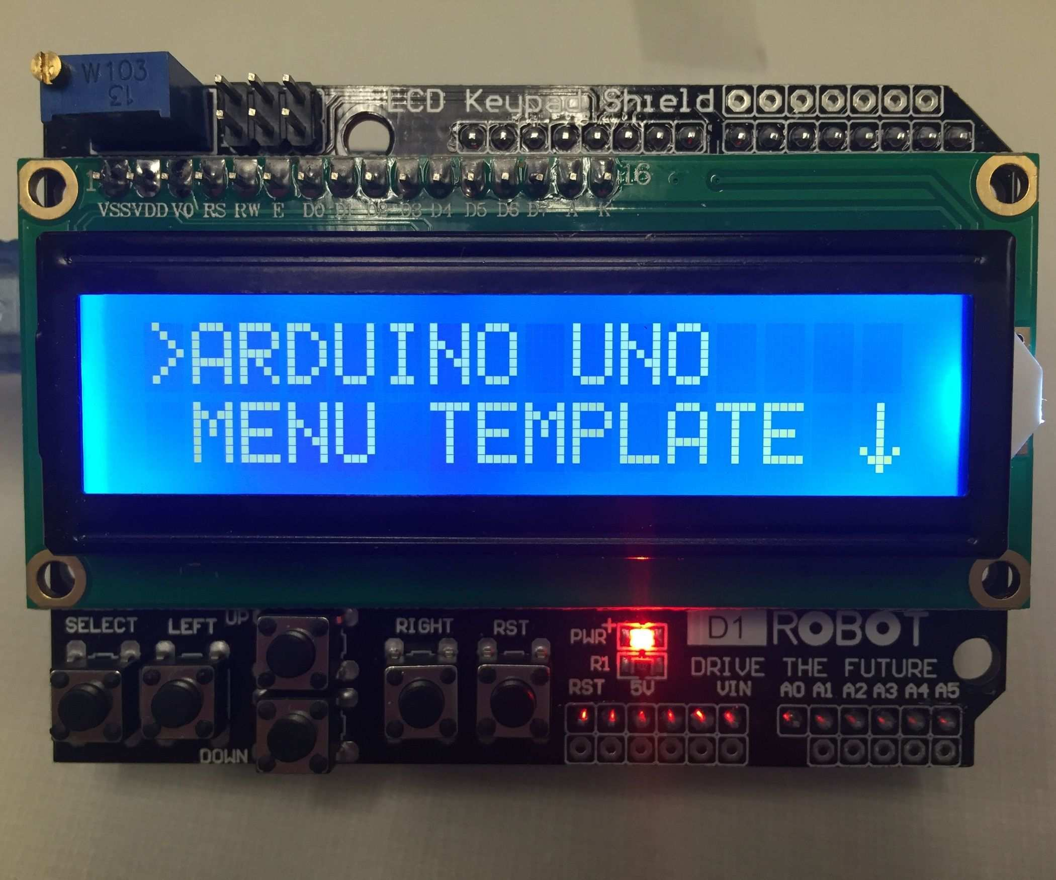 Arduino Uno Menu Template Arduino Arduino Programming Arduino Projects