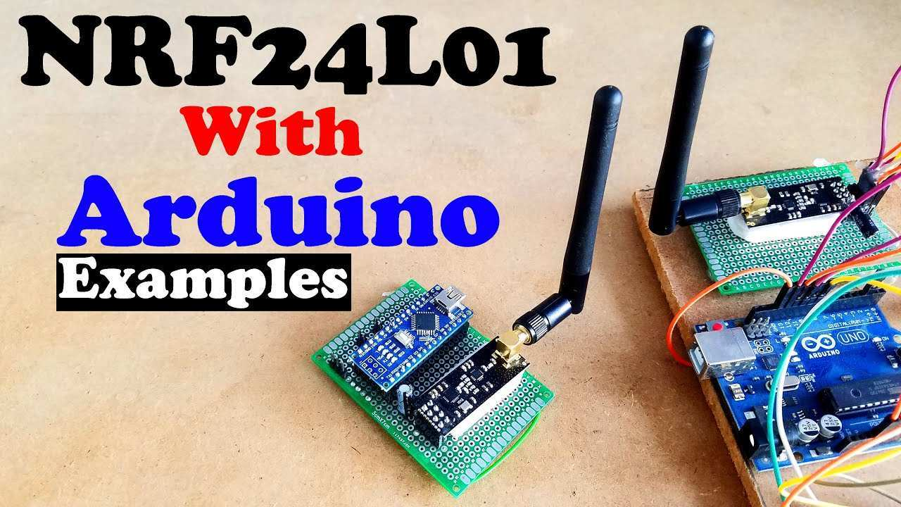 Nrf24l01 With Arduino Nrf24l01 Pinout Interfacing And Programming Examples Nrf24l01 Tutorial Youtube